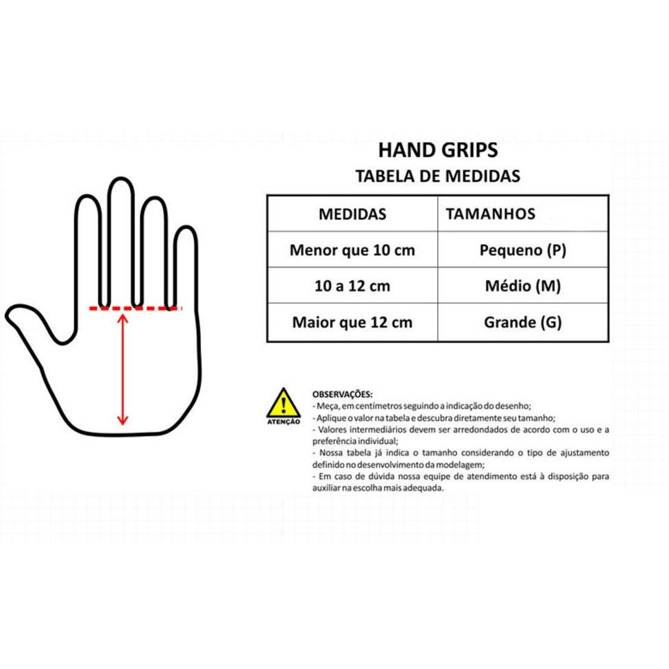 Luva Hand Grip Couro para Pull Up - Par