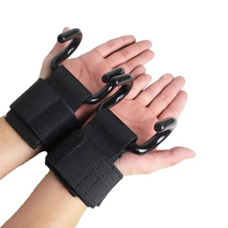 Luva Strap com Garra de Aço para Treino de Musculação Par Yangfit
