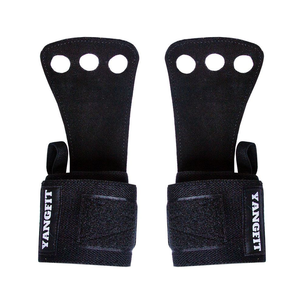 Munhequeira com Luva Grip Integrada Para Pull Up Par