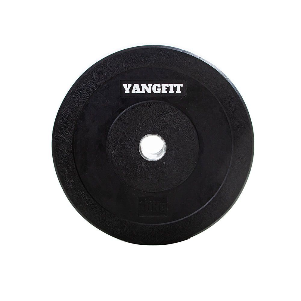 Par de Anilha Olímpica Bumper 10kg Crossfit Borracha Yangfit