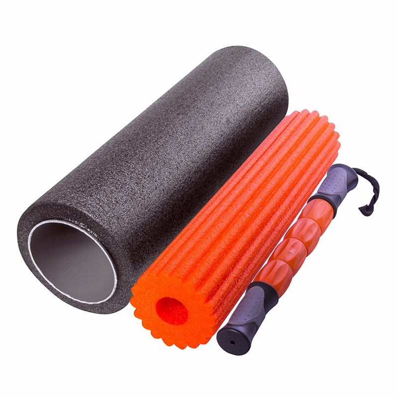 Rolo de Massagem Liberação Miofascial Foam Roller 3 Em 1
