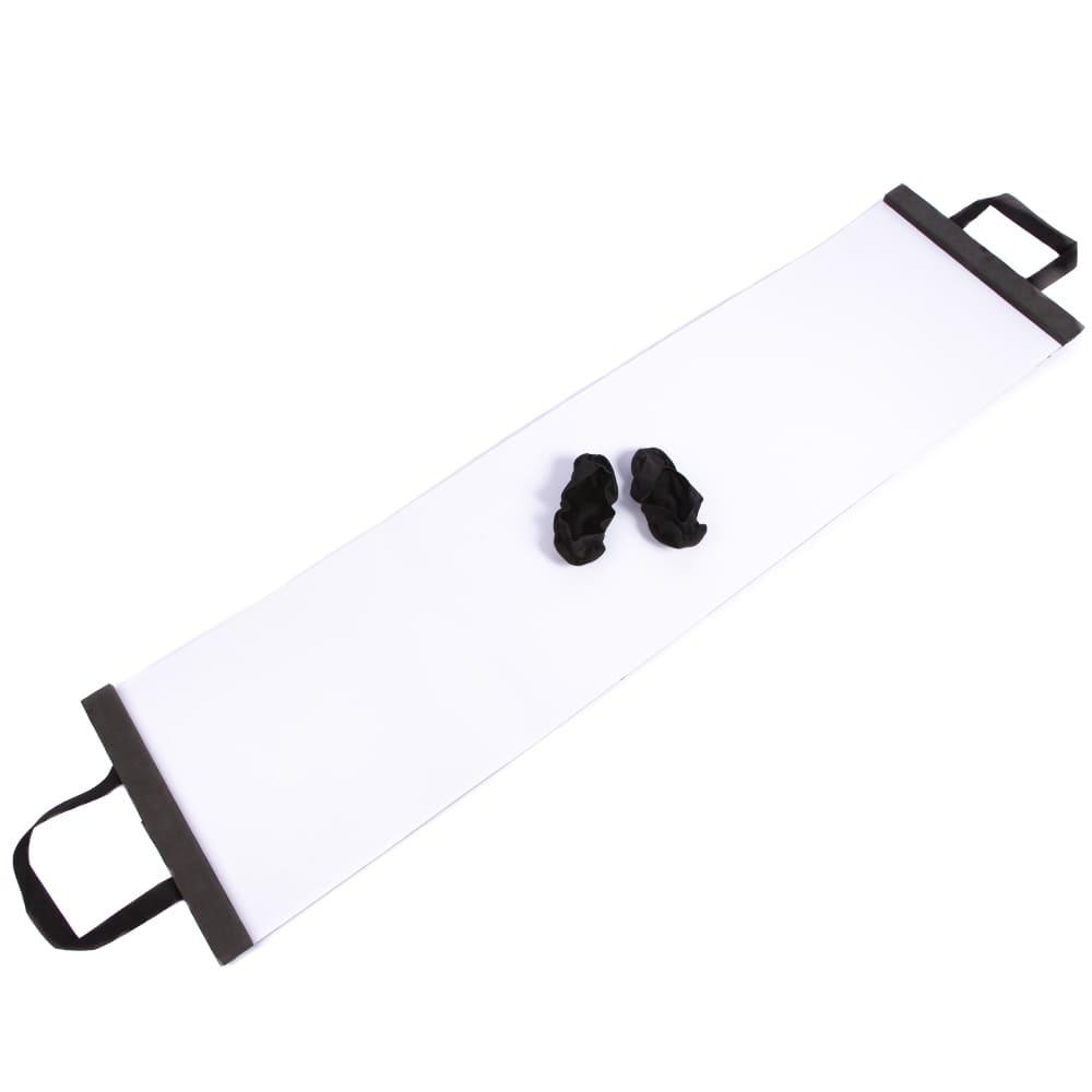 Slide Board Plataforma Deslizante com Par de Sapatilhas