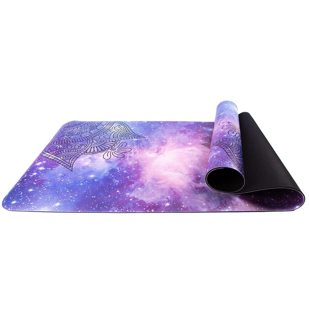 Tapete Yoga Mat Antiderrapante PU e Borracha Natural Com Bolsa