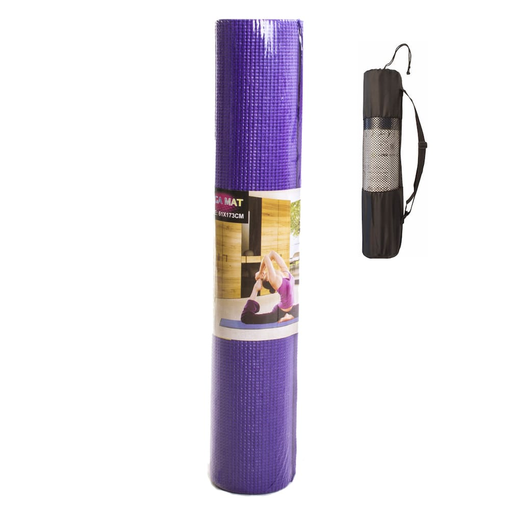 Tapete Yoga Mat Pilates PVC 4mm Com Bolsa