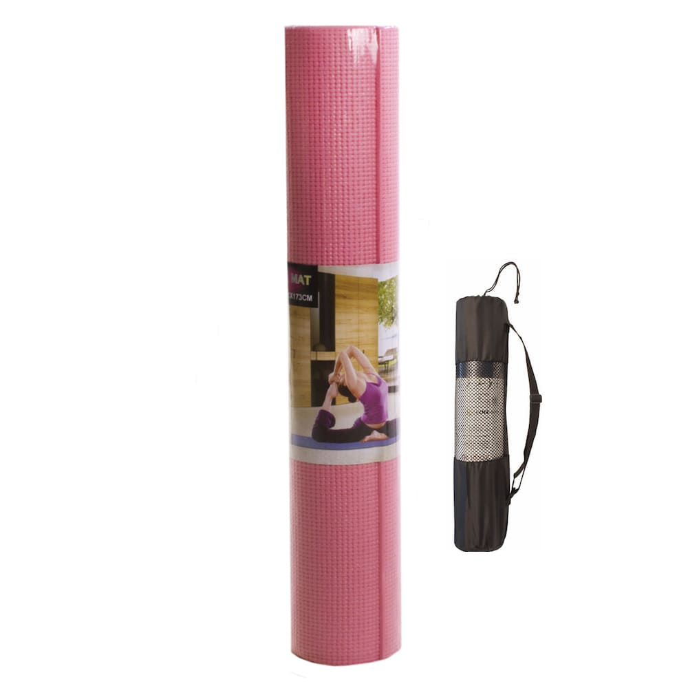 Tapete Yoga Mat Pilates em PVC 6mm com Bolsa de Transporte