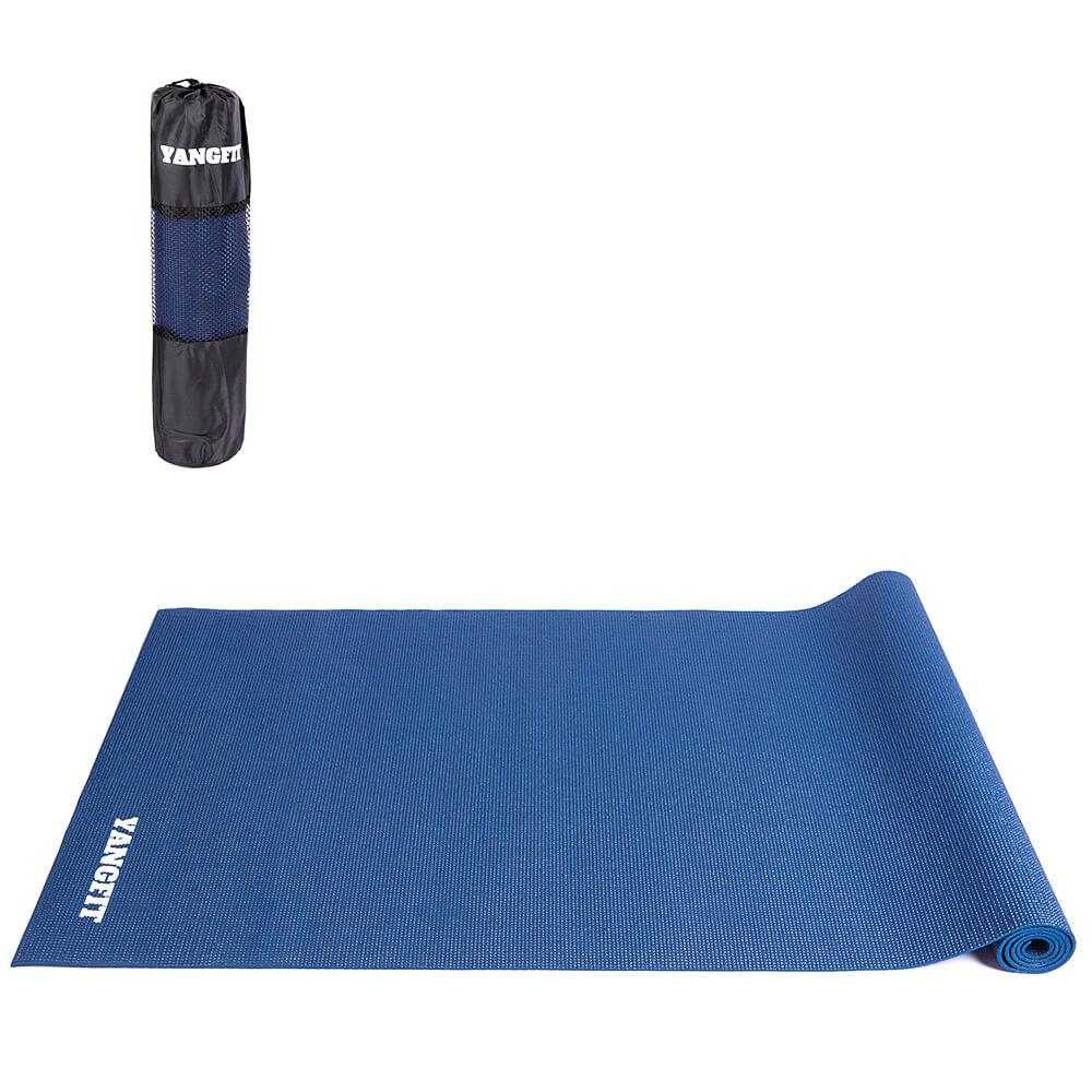Tapete Yoga Mat Pilates Exercícios PVC 4mm Com Bolsa