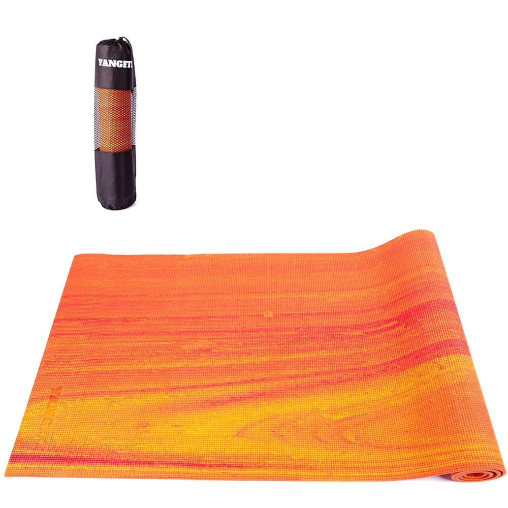 Tapete Yoga Mat Pilates Exercícios PVC 6mm Rainbow Com Bolsa