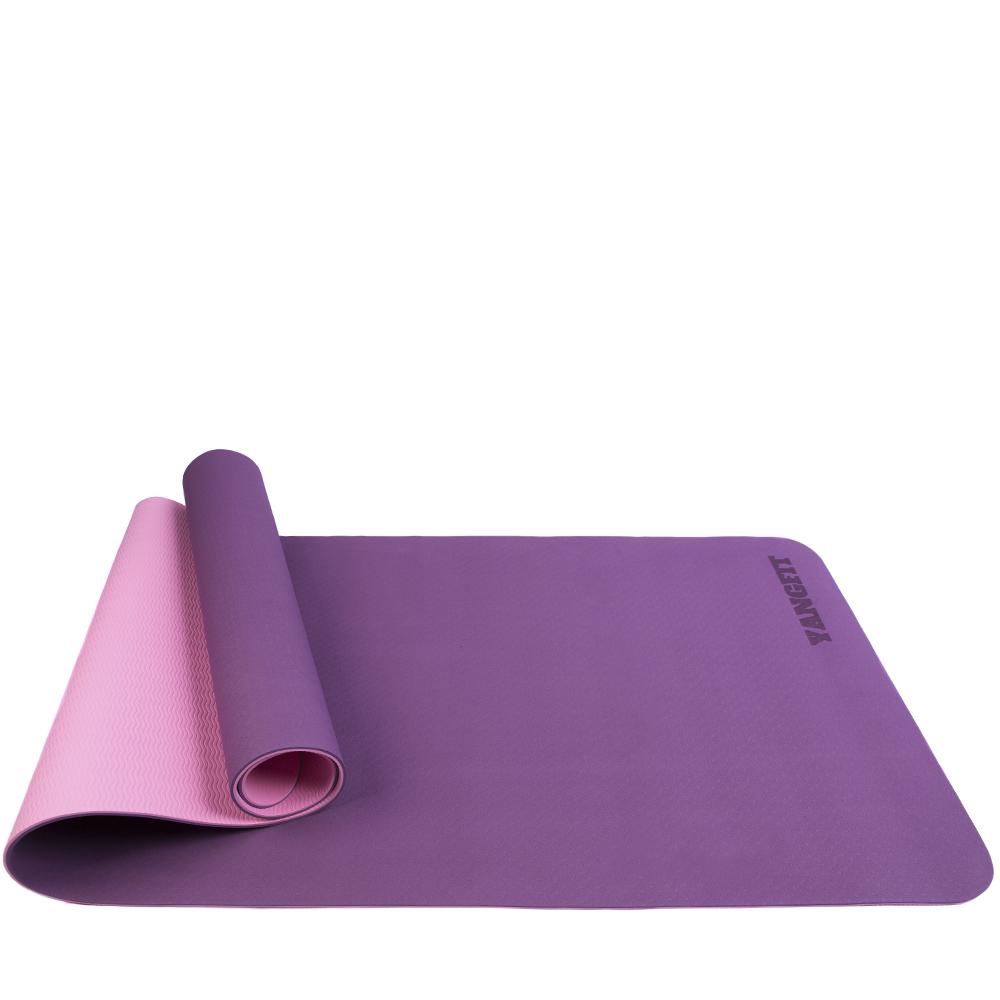Tapete Yoga Mat Pilates Exercícios TPE 6mm Com Bolsa