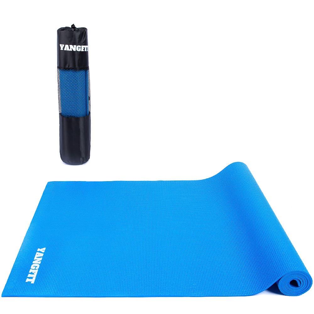 Tapete Yoga Mat Pilates Exercícios PVC 5mm Com Bolsa