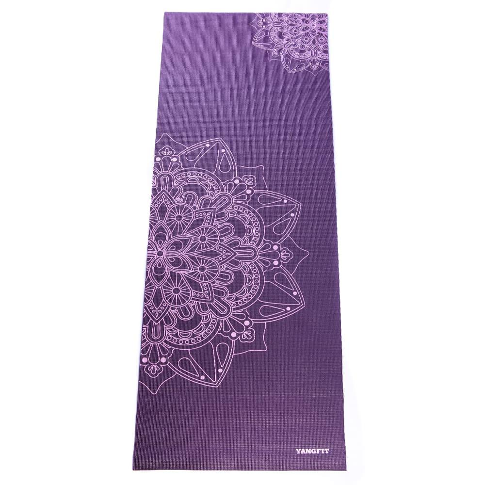 Tapete Yoga Mat Pilates PVC Ecológico 5mm Estampa Mandala com Bolsa