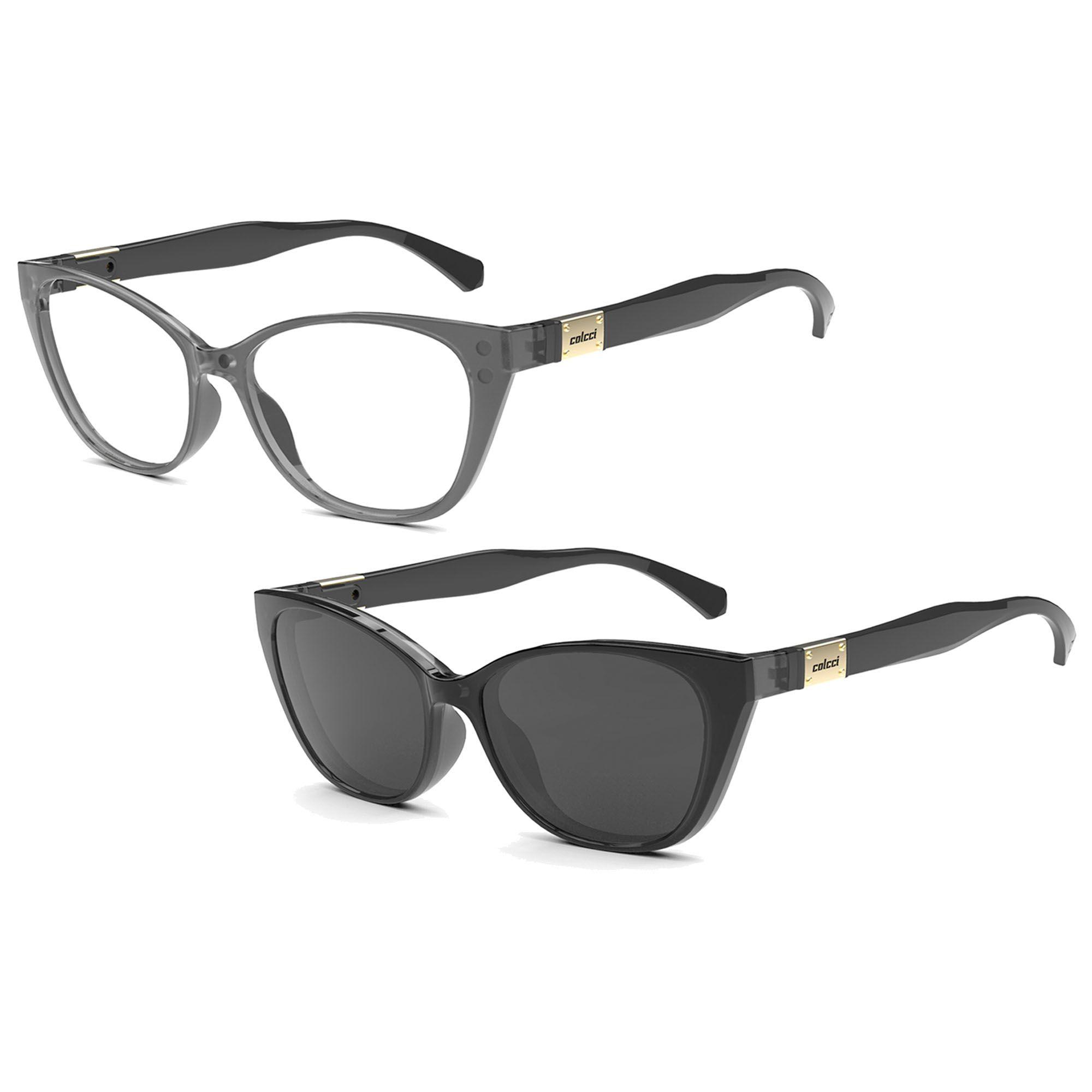 Óculos de Grau Feminino Colcci Bandy I C6122DG552 Clip On Solar Polarizado