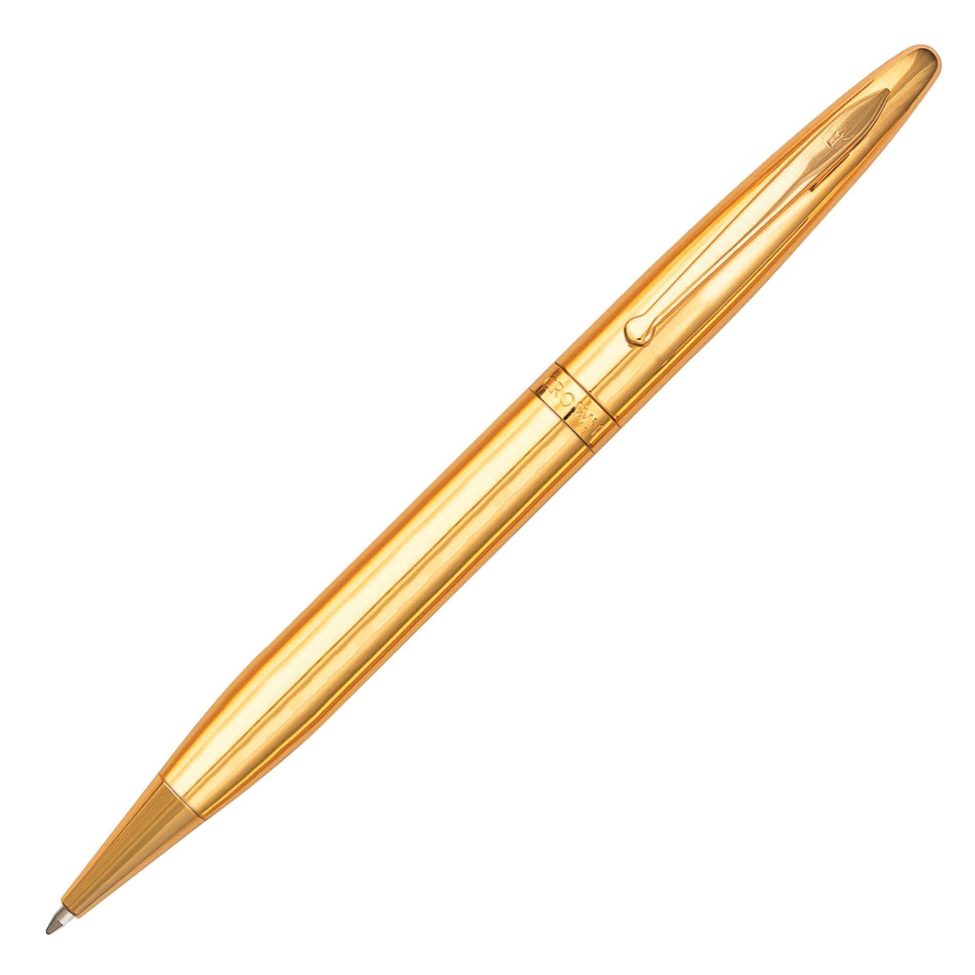 Caneta Crown Elegance Esferográfica YW11255O Dourada