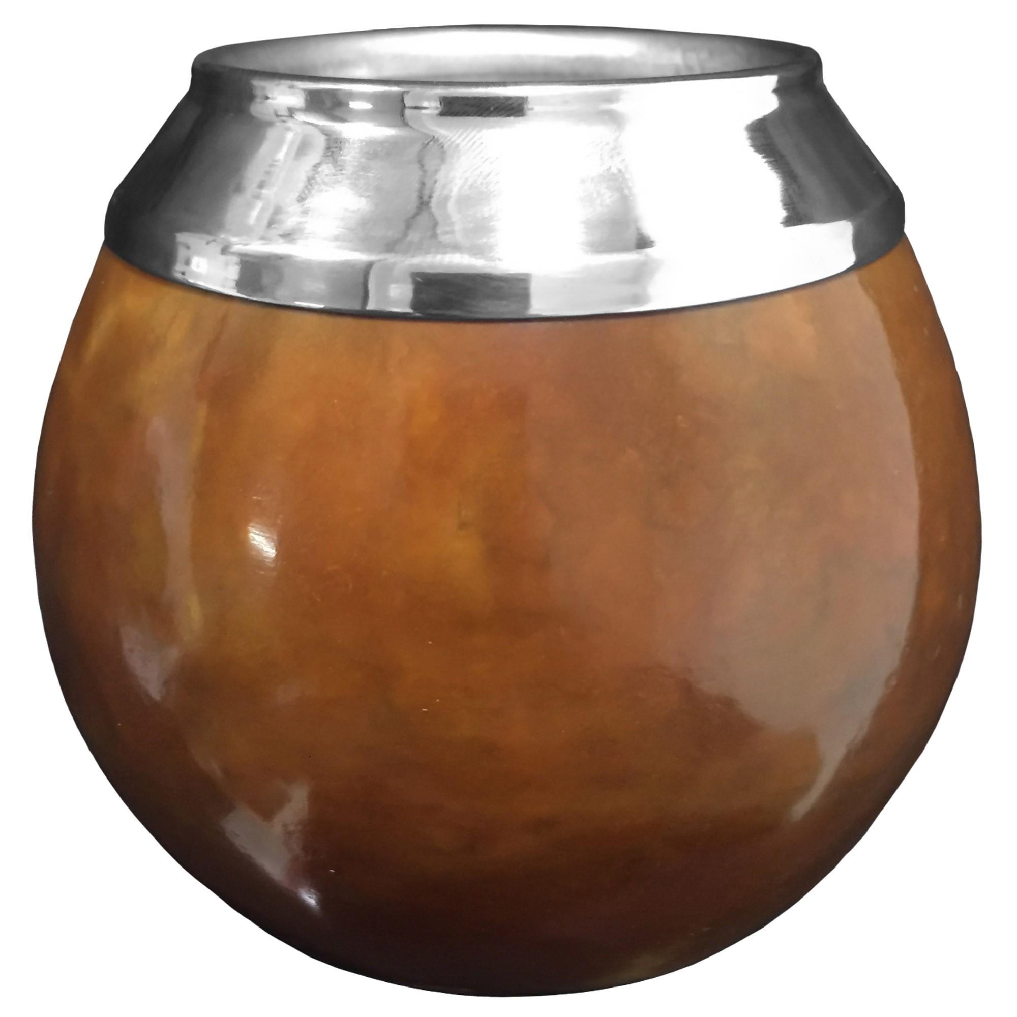 Cuia Coquinho Fama YL11 com Bocal em Aço Inoxidável