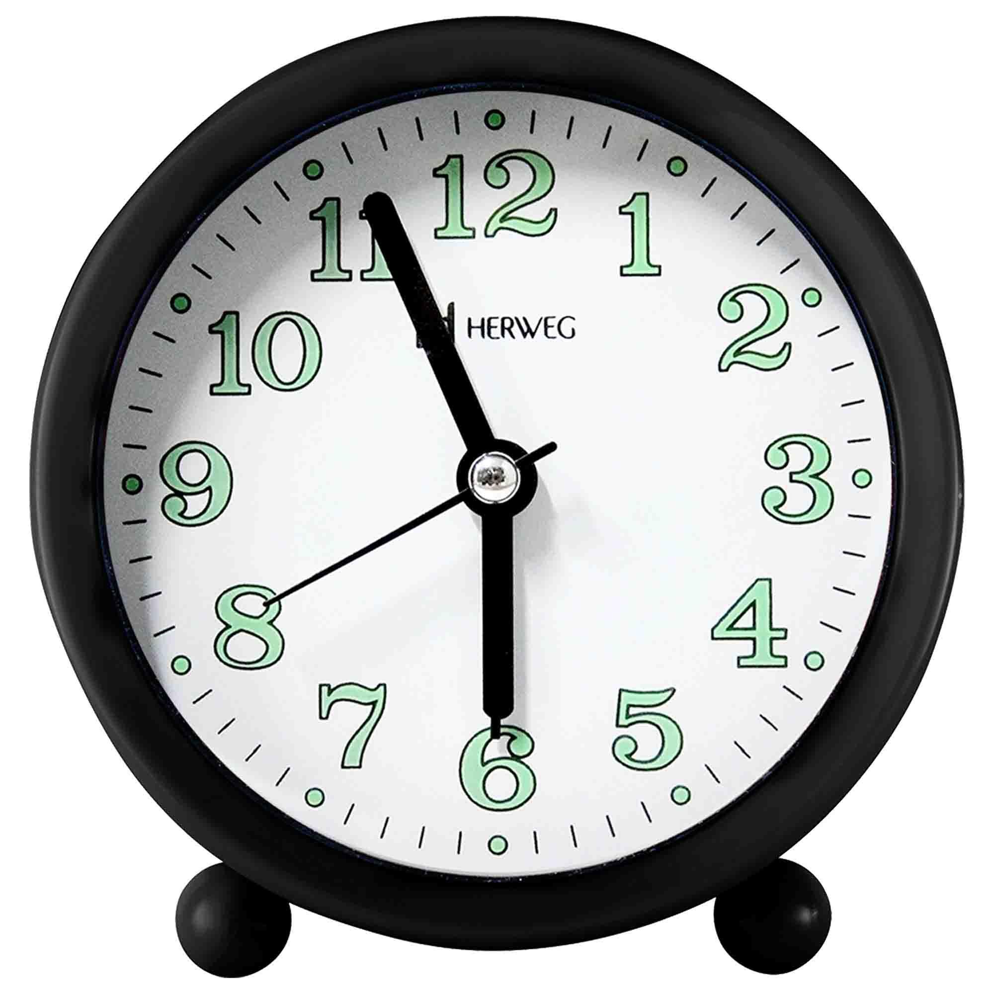 Despertador Analógico Quartzo Herweg 2713 034 Preto