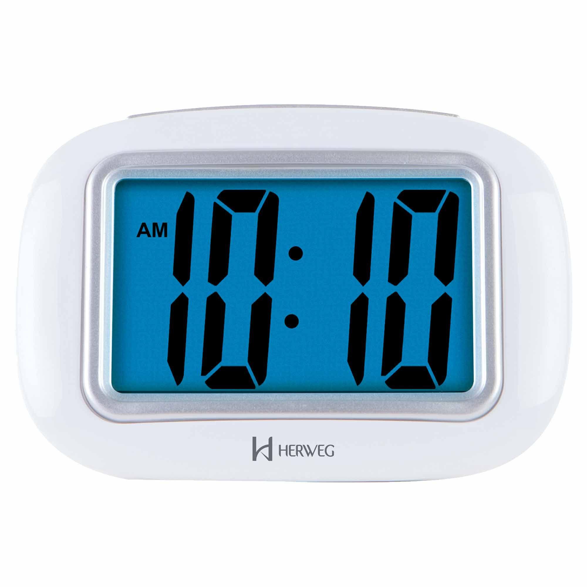 Despertador Digital Quartzo Herweg 2976 021 Branco