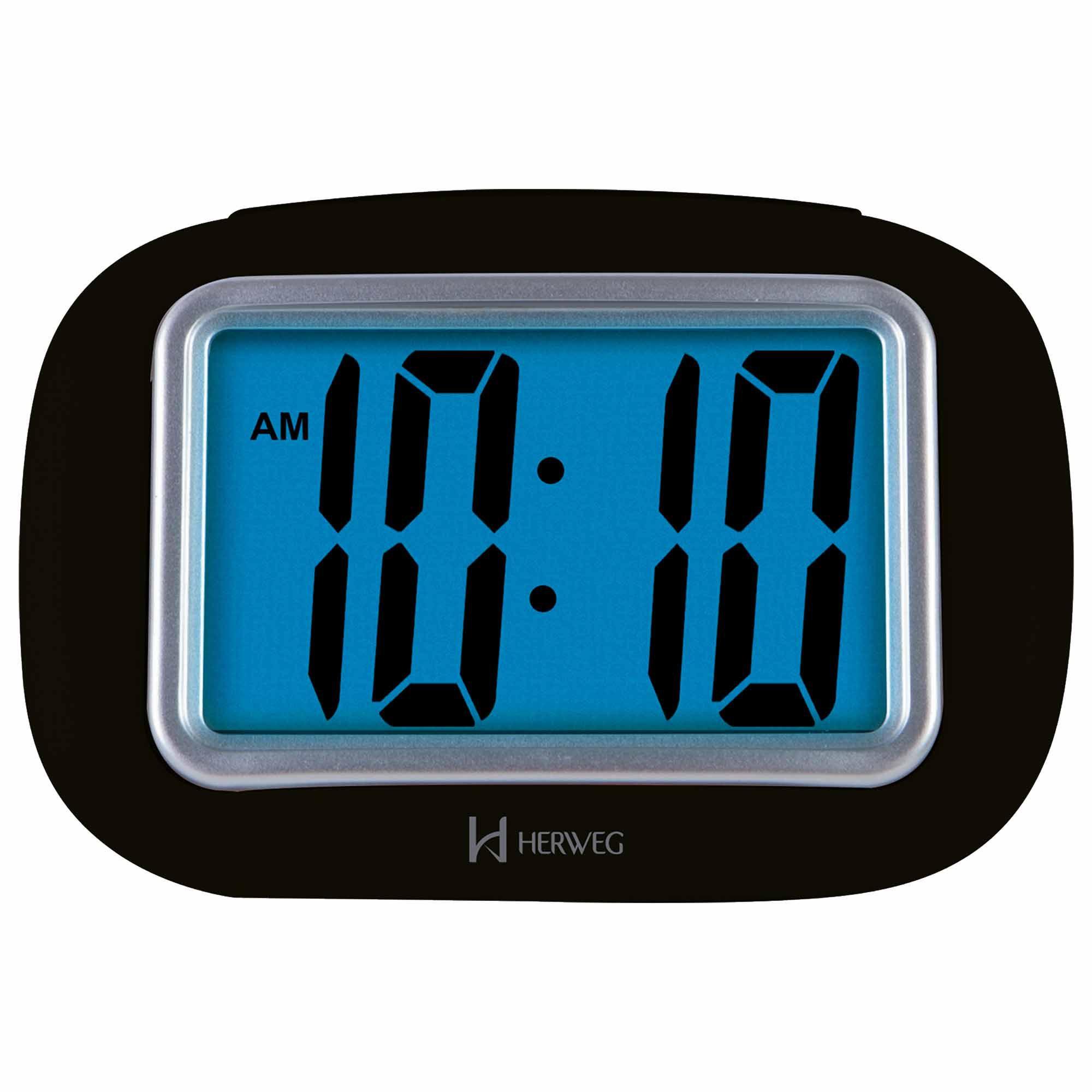 Despertador Digital Quartzo Herweg 2976 034 Preto