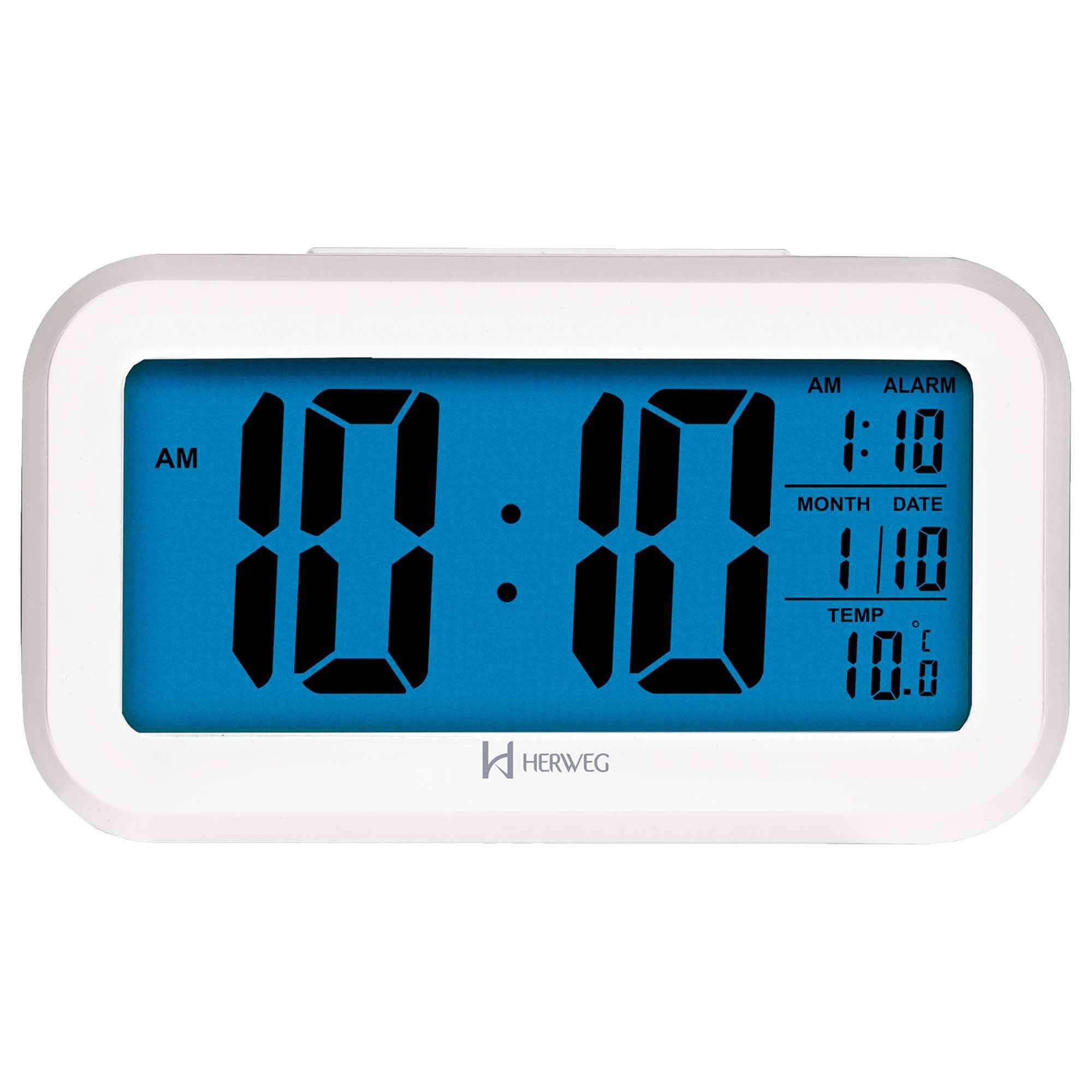 Despertador Digital Quartzo Herweg 2980 021 Branco
