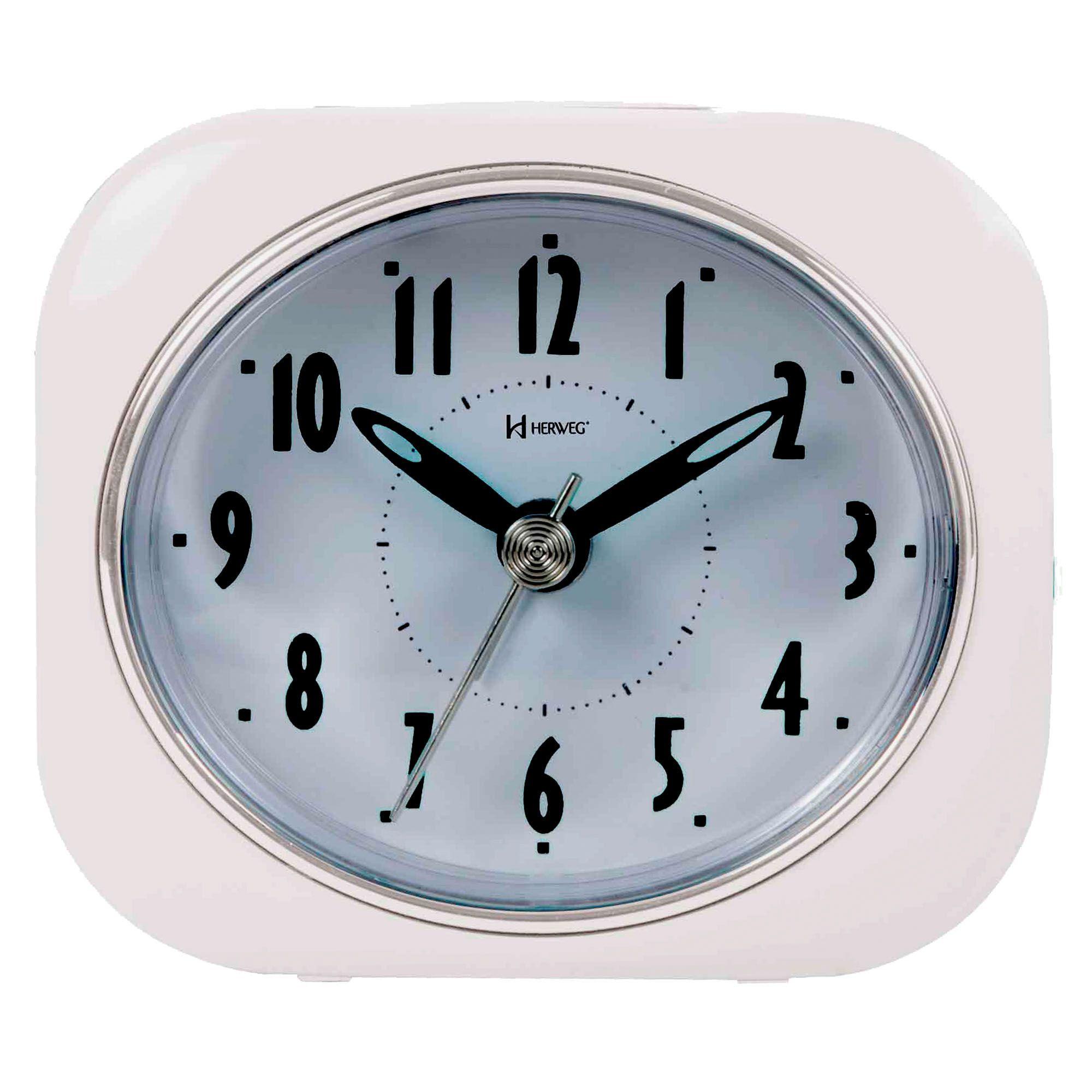 Despertador Analógico Quartzo Herweg 2705 021 Branco