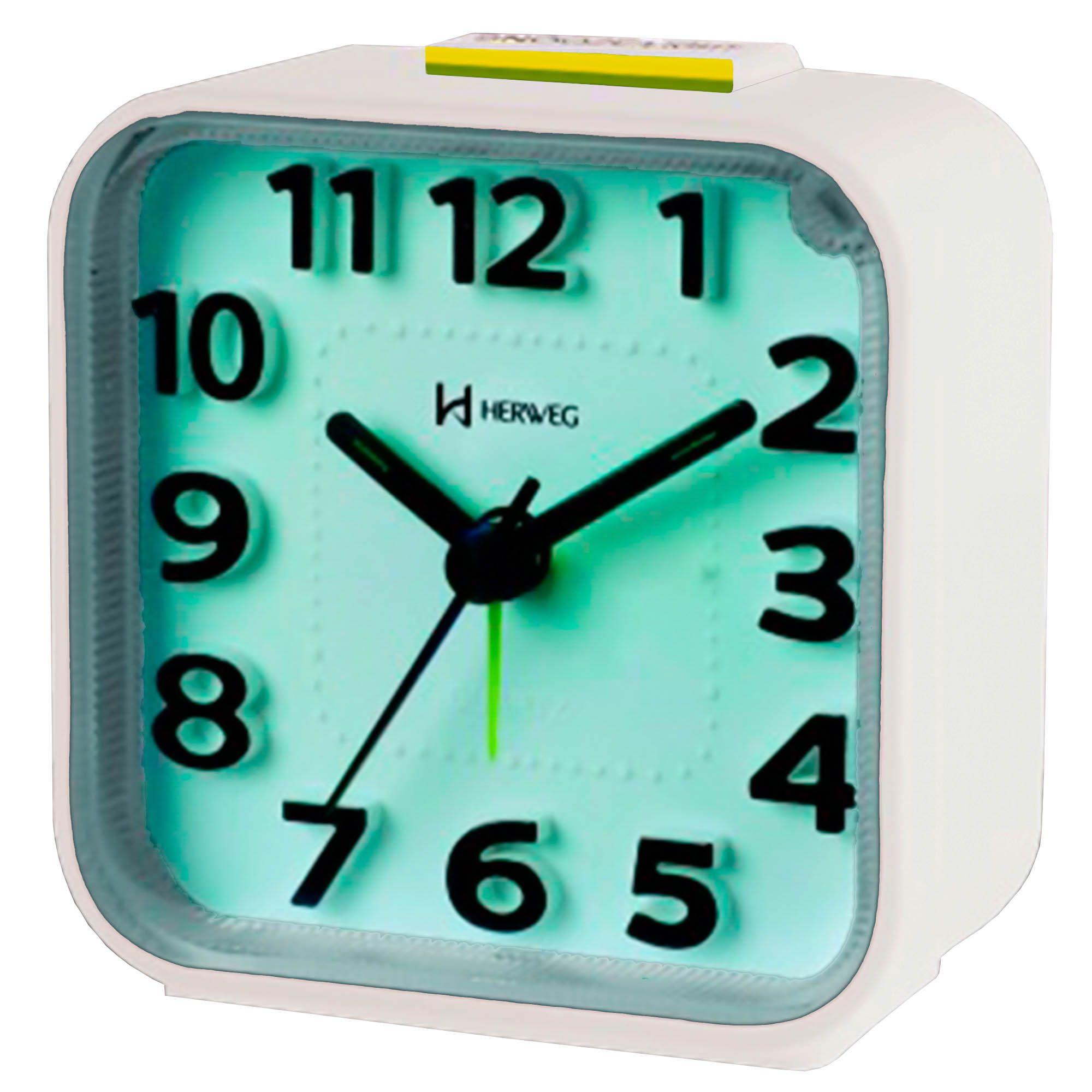 Despertador Analógico Quartzo Herweg 2706 021 Branco