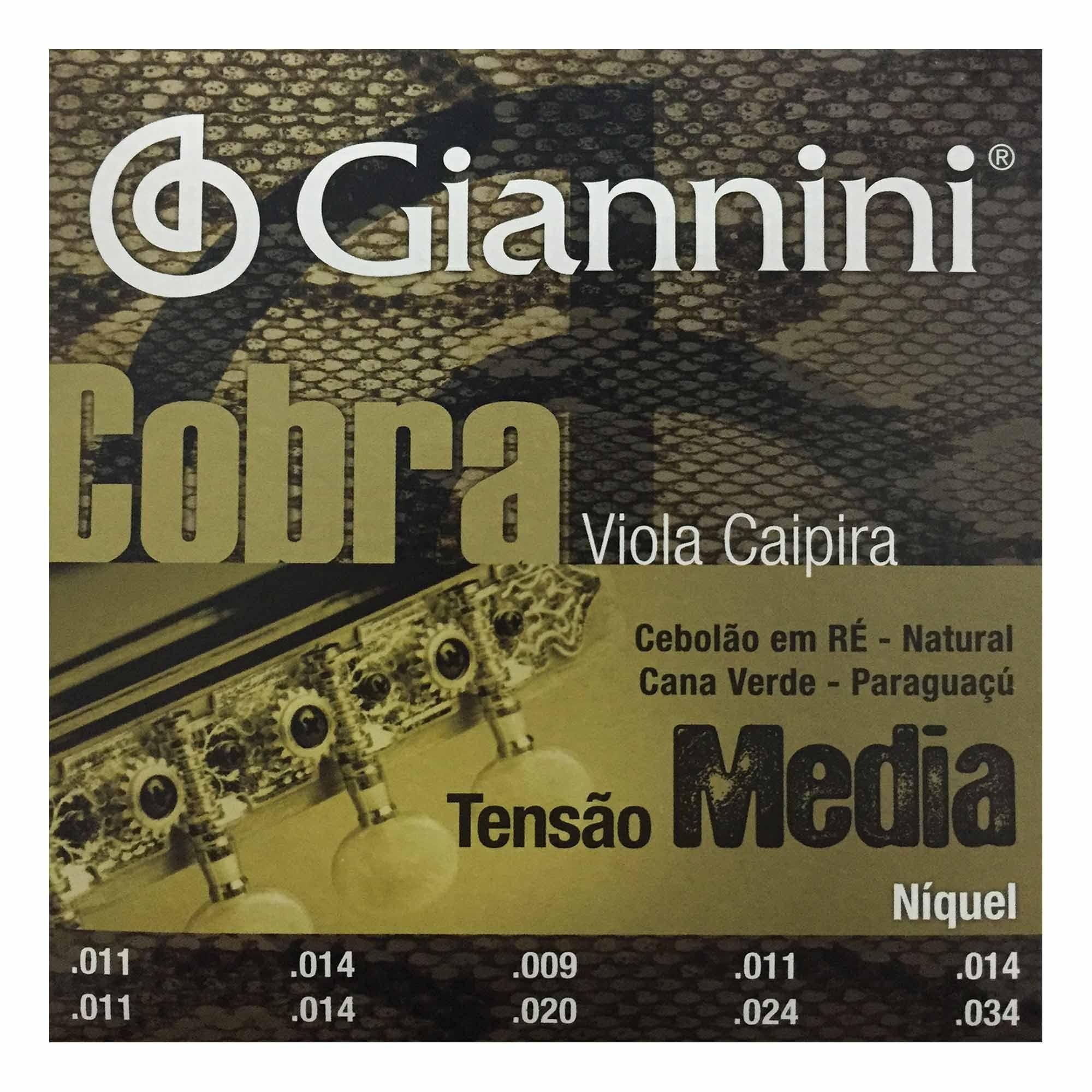 Encordoamento Giannini Viola Caipira GESVNM