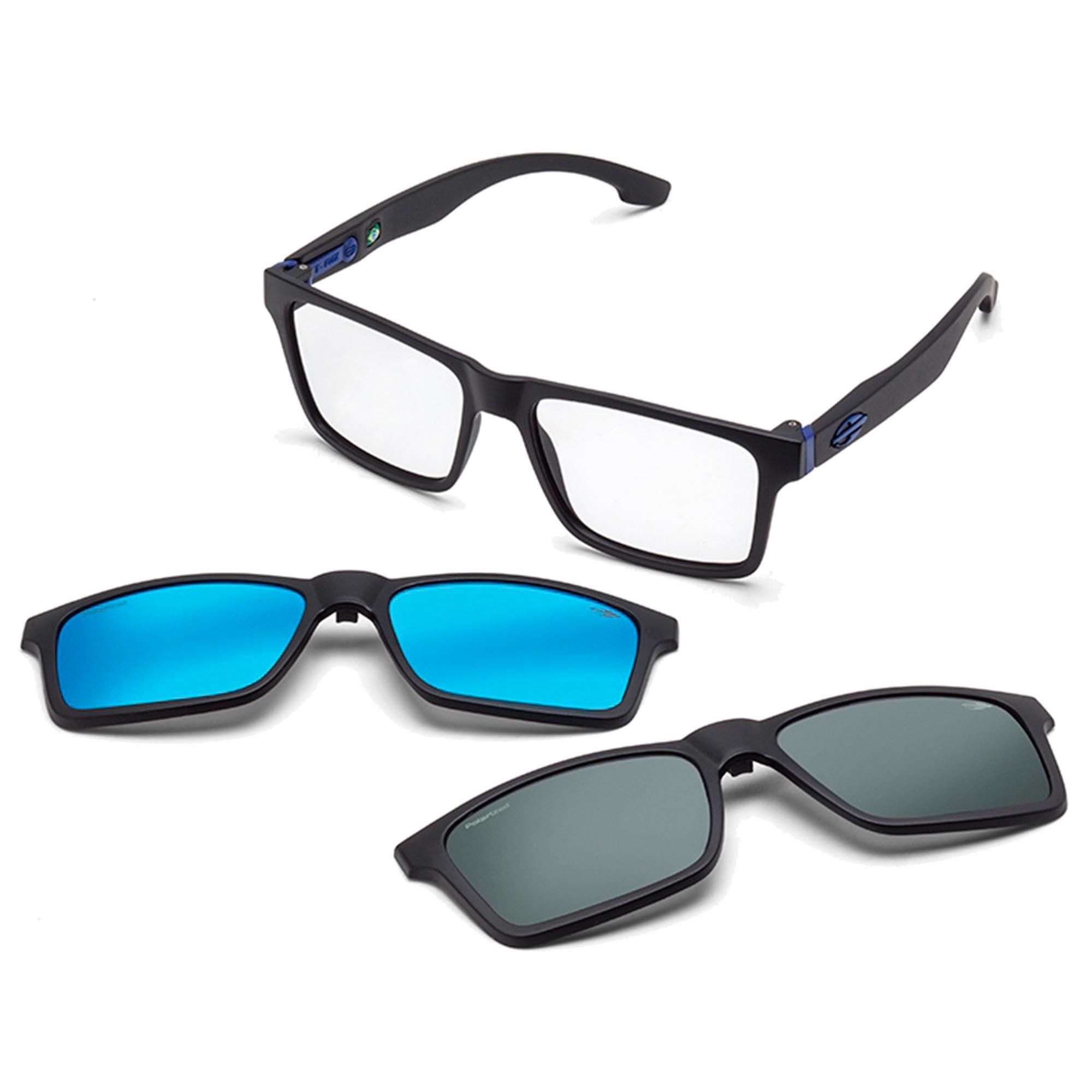 Óculos de Grau Unissex Mormaii Swap M6057A4156 Clip On Solar Polarizado