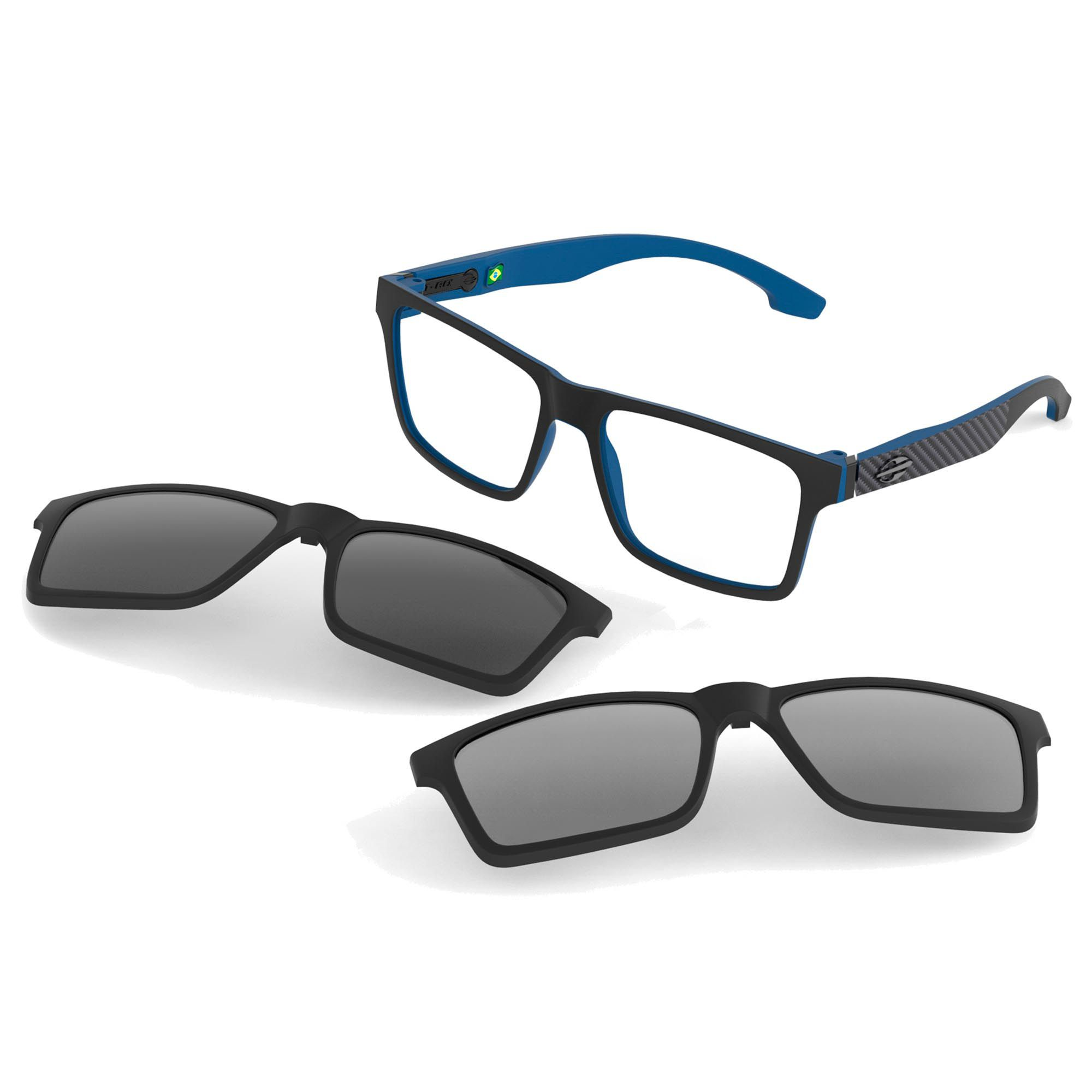 Óculos de Grau Unissex Mormaii Swap M6057AA356 Clip On Solar Polarizado