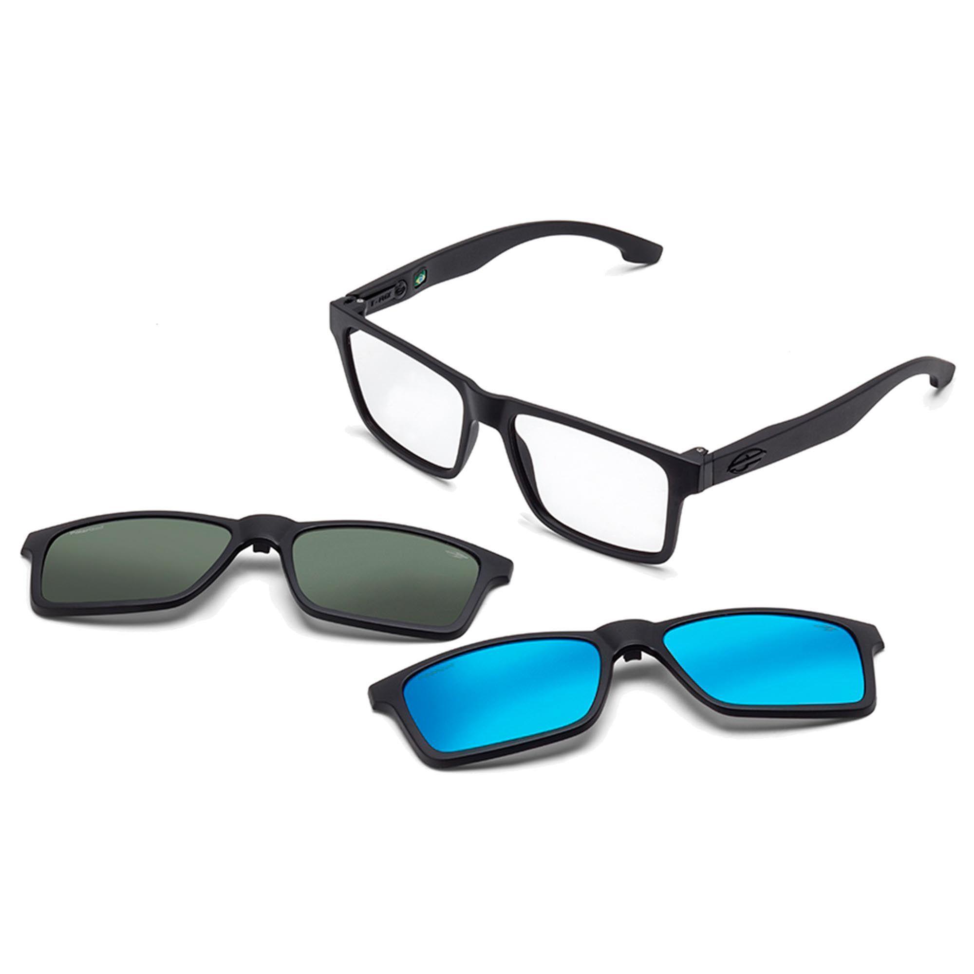 Óculos de Grau Unissex Mormaii Swap M6057ACE56 Clip On Solar Polarizado
