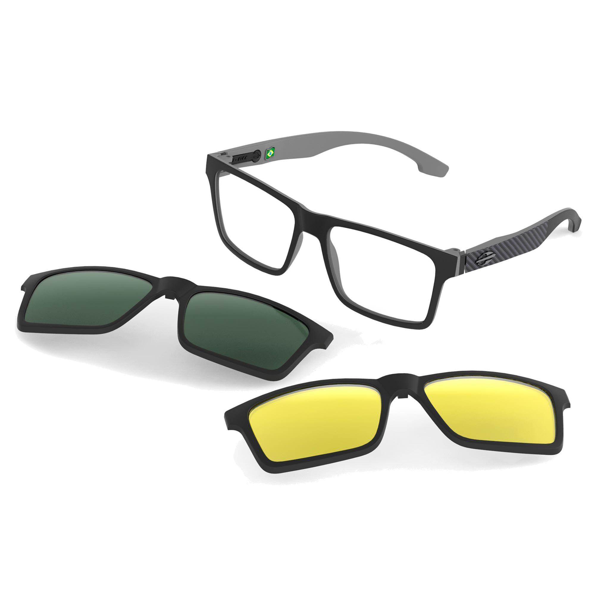 Óculos de Grau Unissex Mormaii Swap M6057AGA56 Clip On Solar Polarizado
