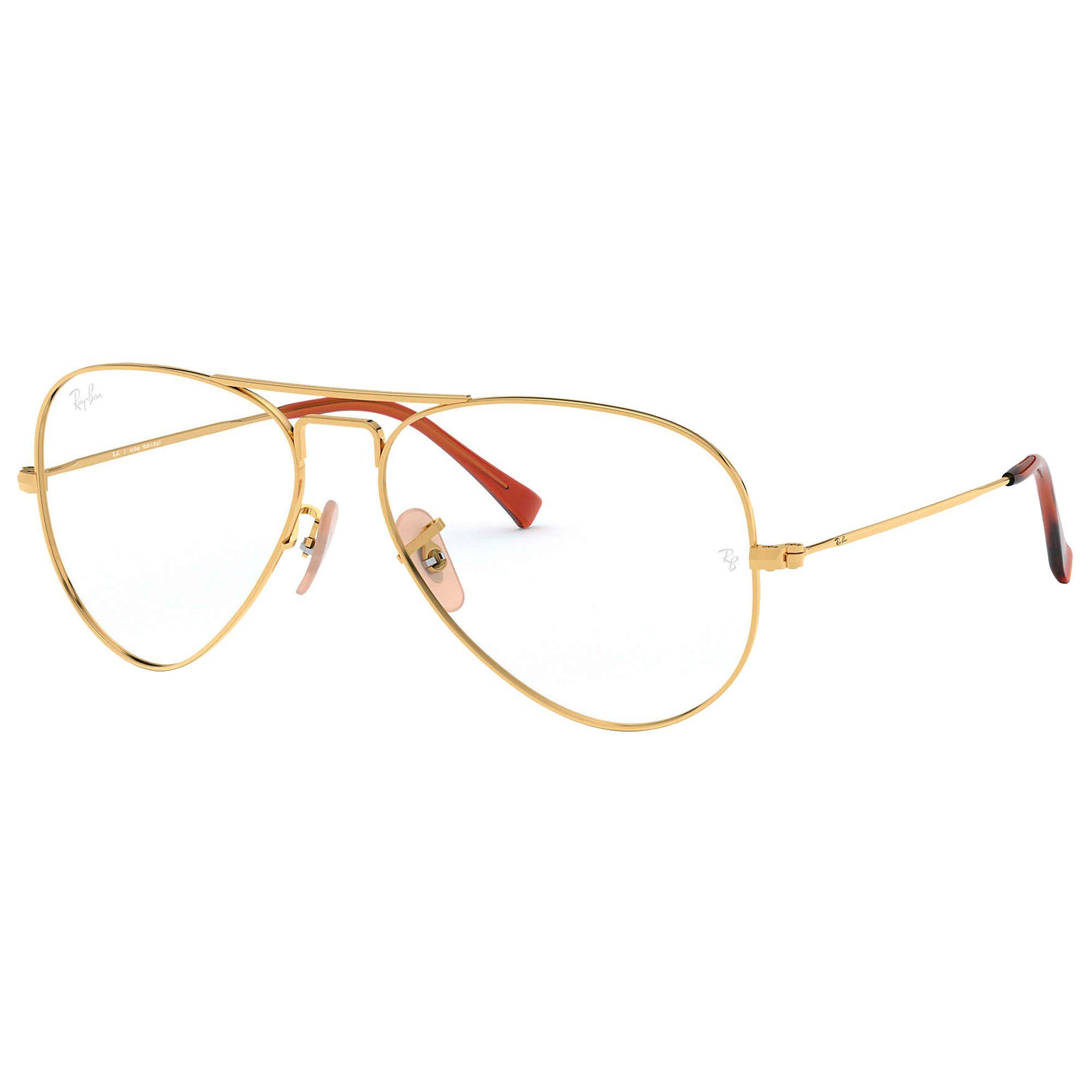 Óculos de Grau Unissex Ray-Ban Aviator Optics RB6049L 2500 55-14