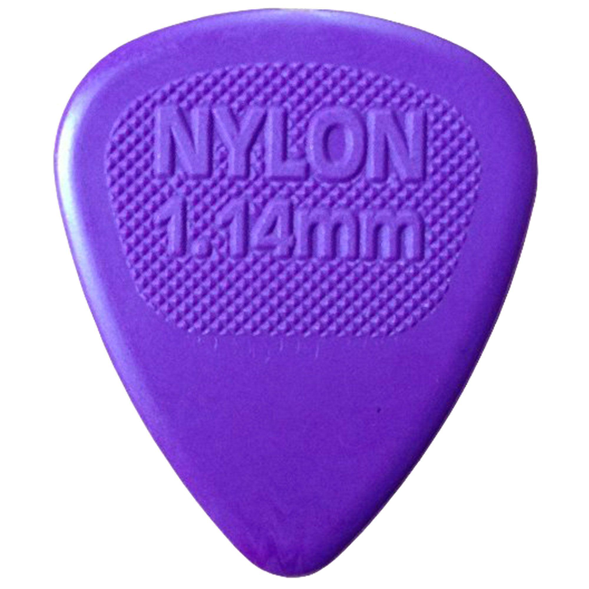 Palheta Jim Dunlop Nylon Midi 1.14 mm Roxa