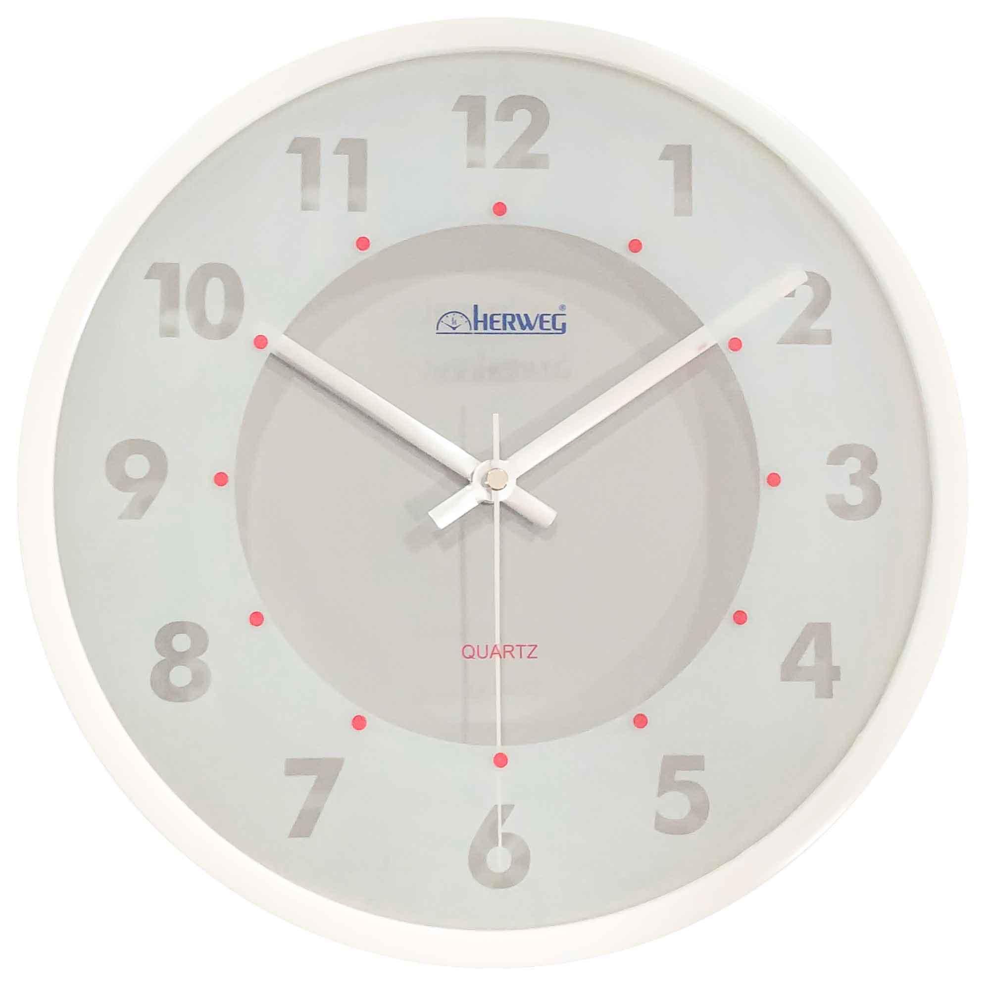 Relógio de Parede Analógico Herweg 6335 021 Branco