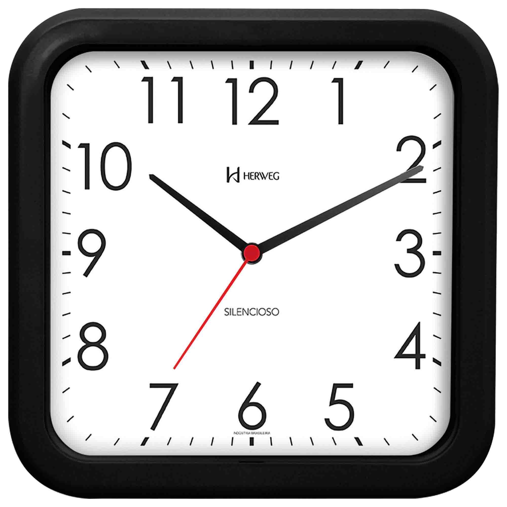 Relógio de Parede Analógico Herweg 660041 034 Preto