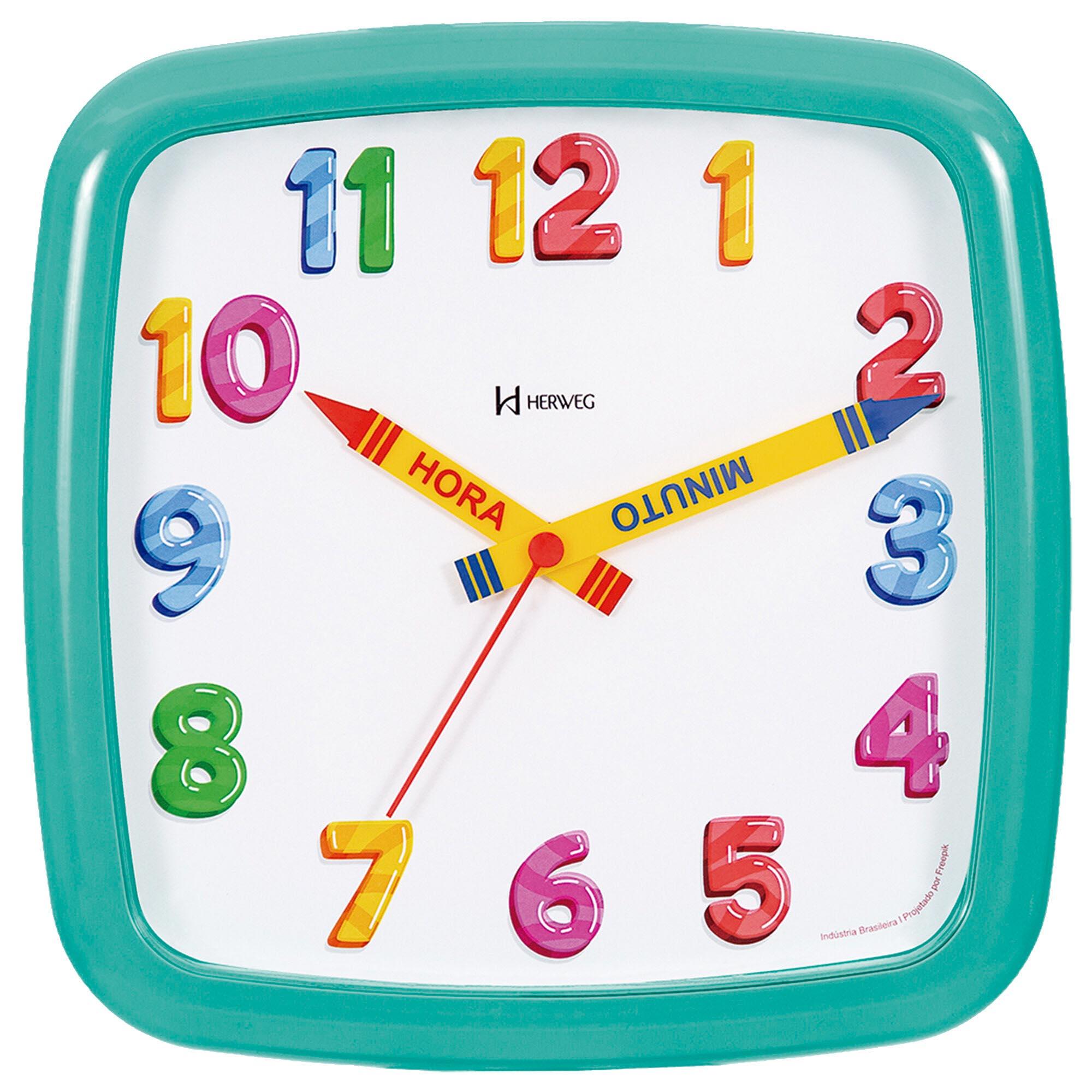 Relógio de Parede Analógico Herweg 660080 283 Menta