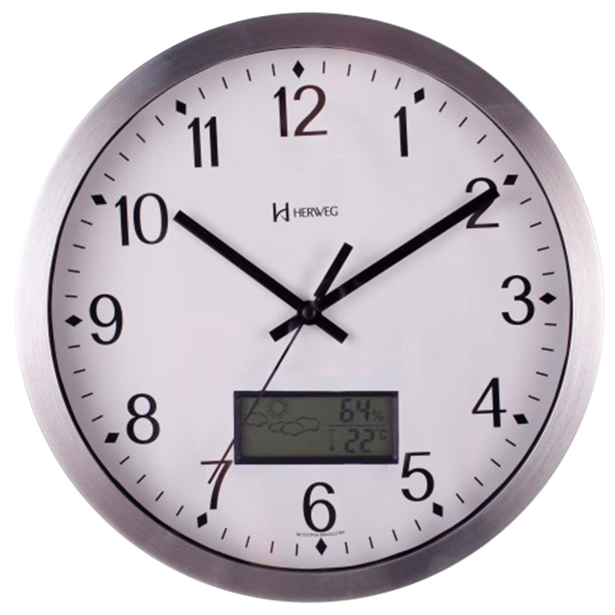 Relógio de Parede Analógico Herweg 6721 079 Alumínio