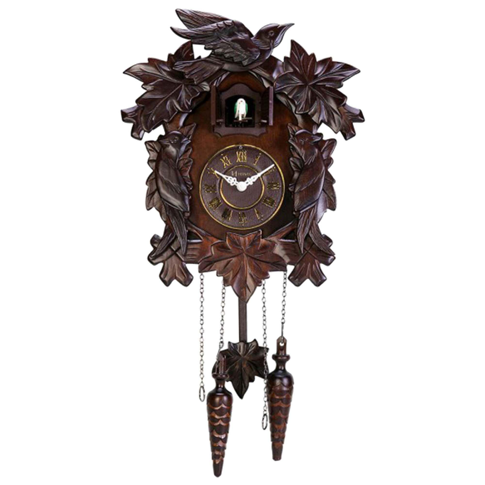 Relógio de Parede Cuco Herweg 5379 084 Marrom Ipê