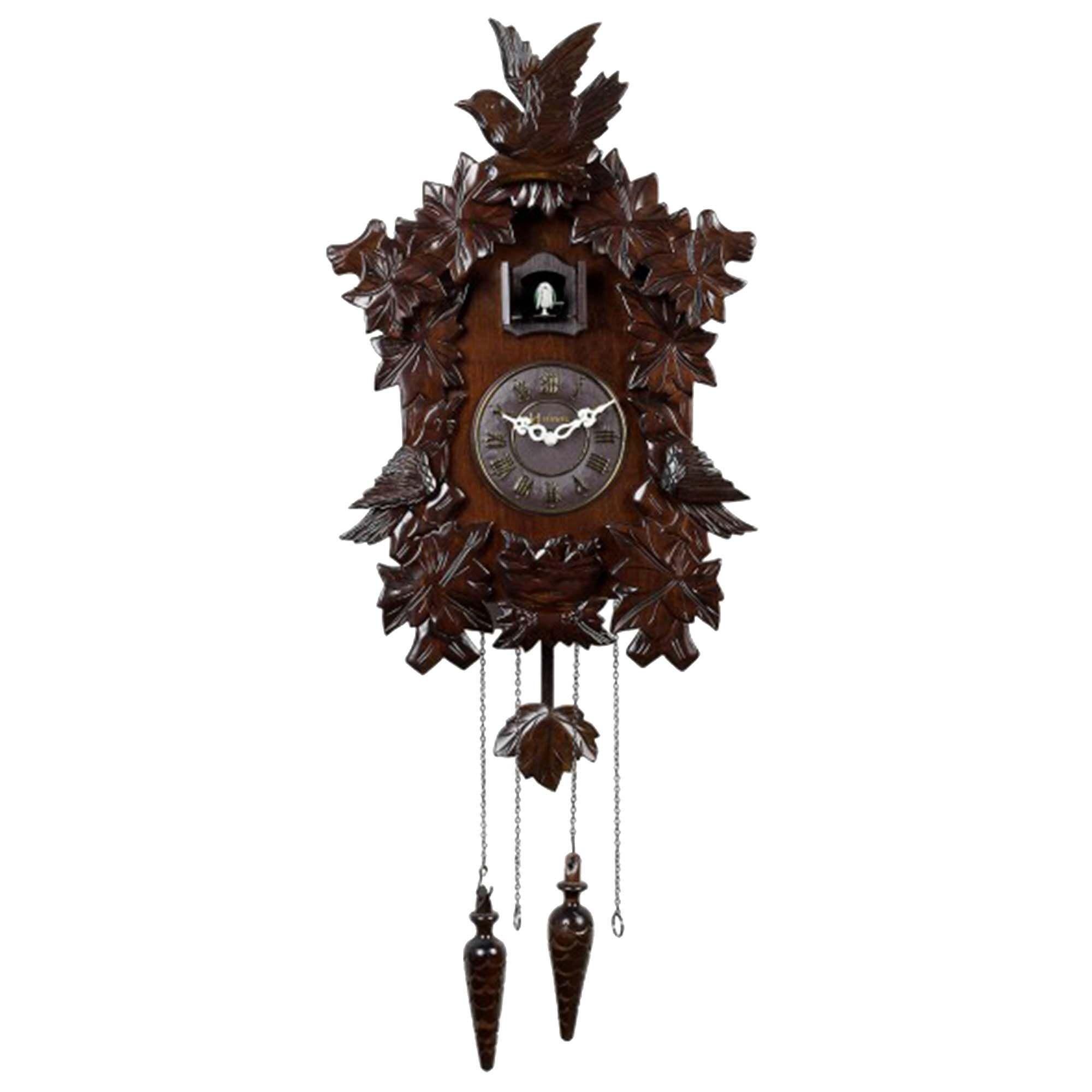 Relógio de Parede Cuco Herweg 5386 084 Marrom Ipê