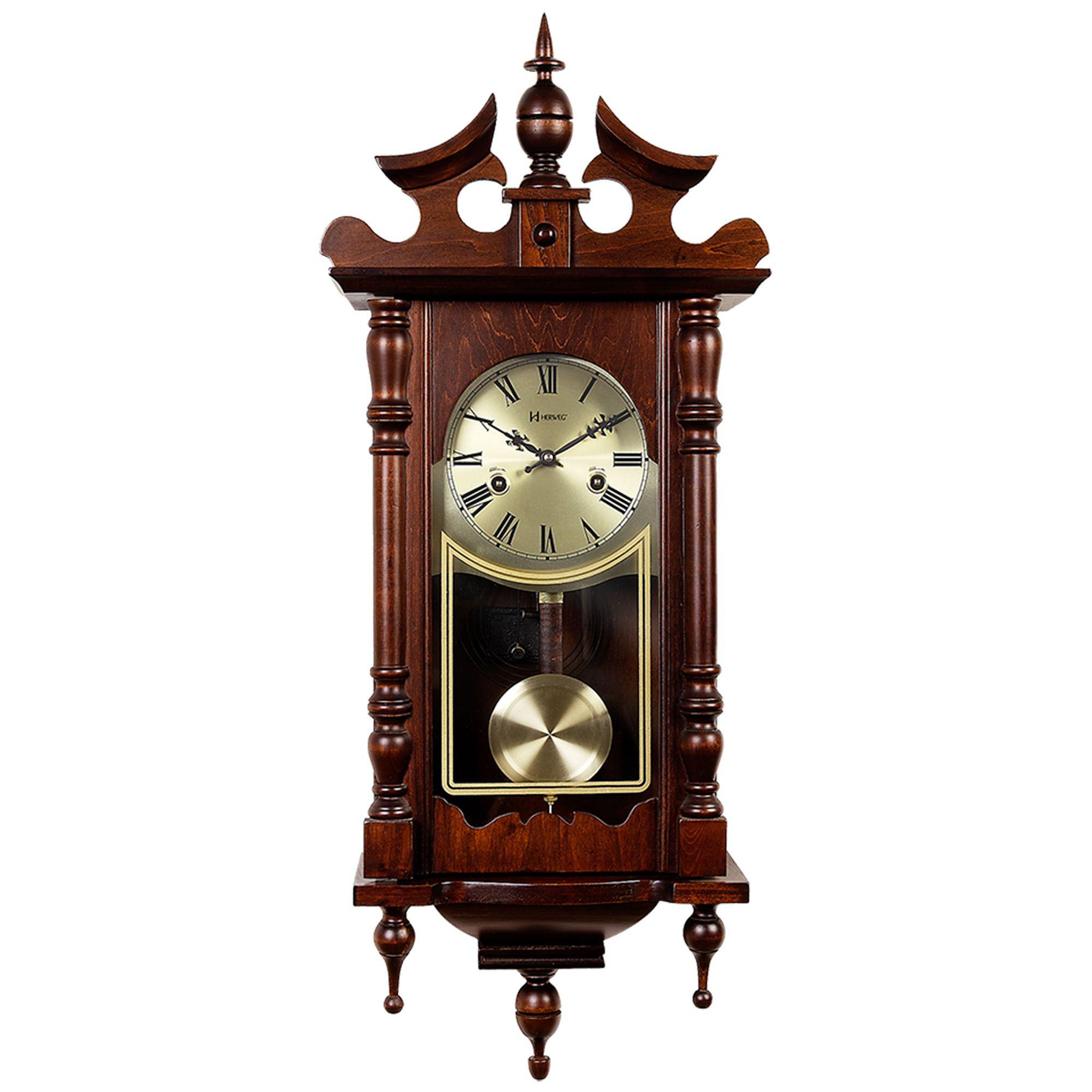 Relógio de Parede Carrilhão Herweg 5352 084 Marrom Ipê