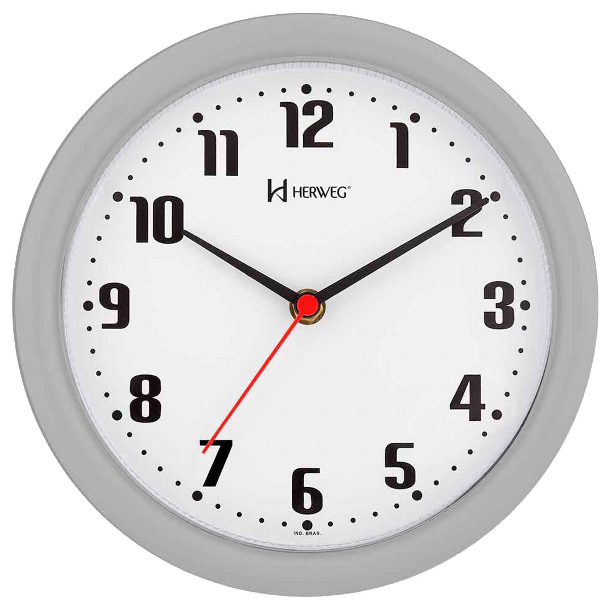 Relógio de Parede Analógico Herweg 6102 024 Cinza