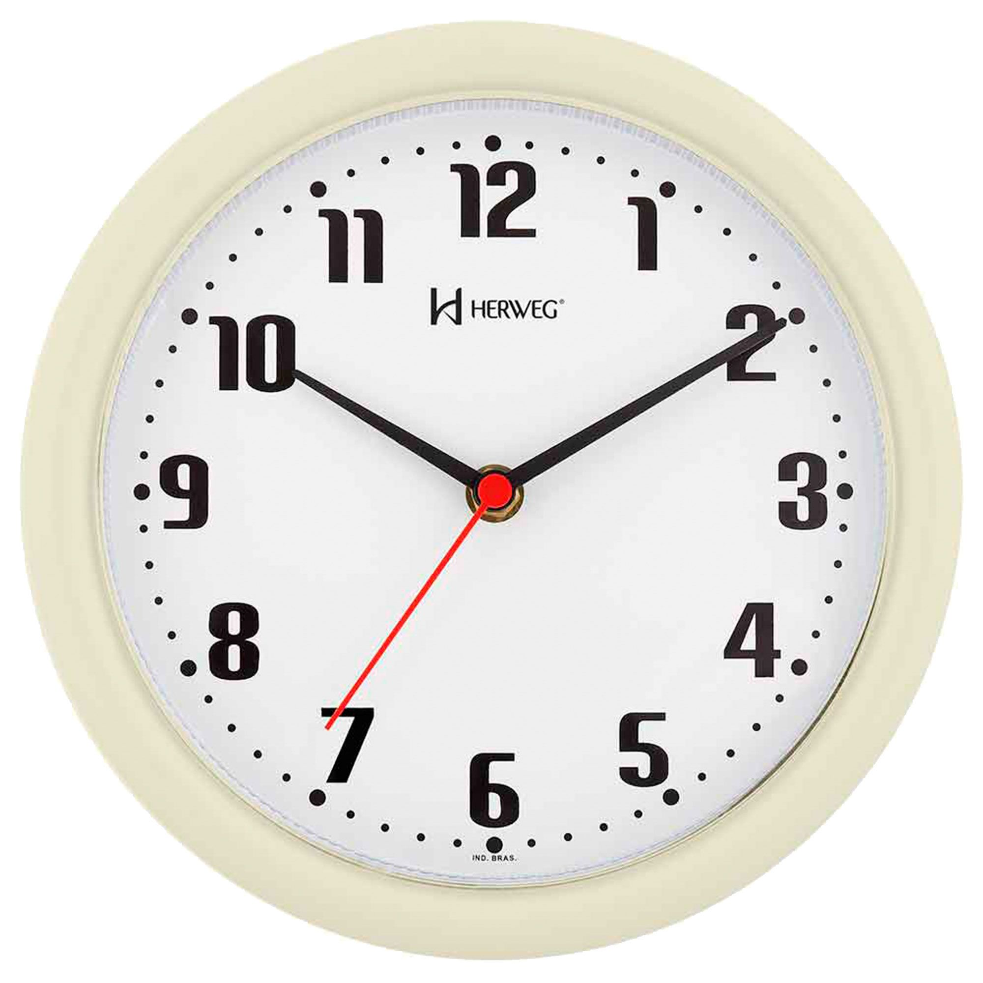 Relógio de Parede Analógico Herweg 6102 032 Marfim