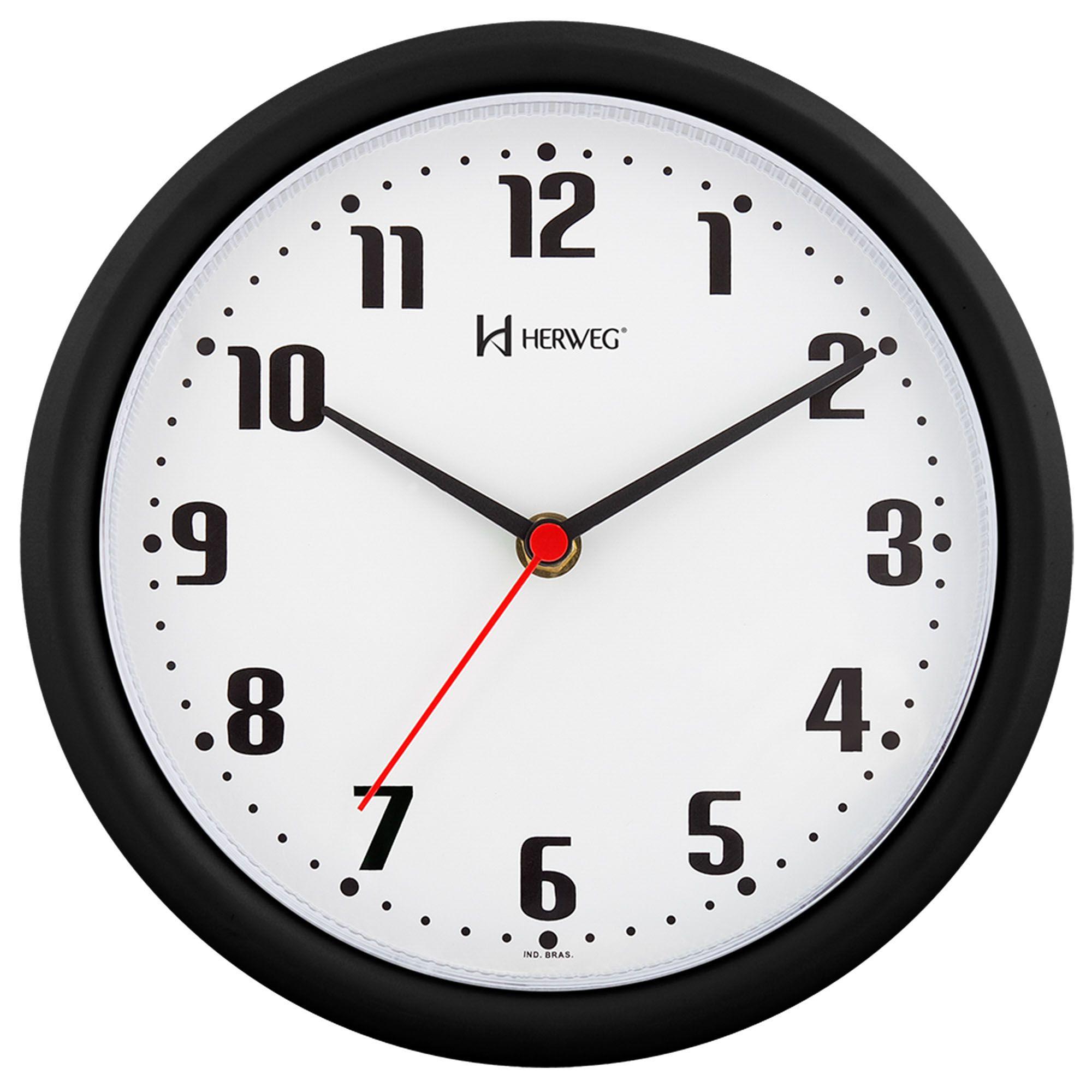 Relógio de Parede Analógico Herweg 6102 034 Preto