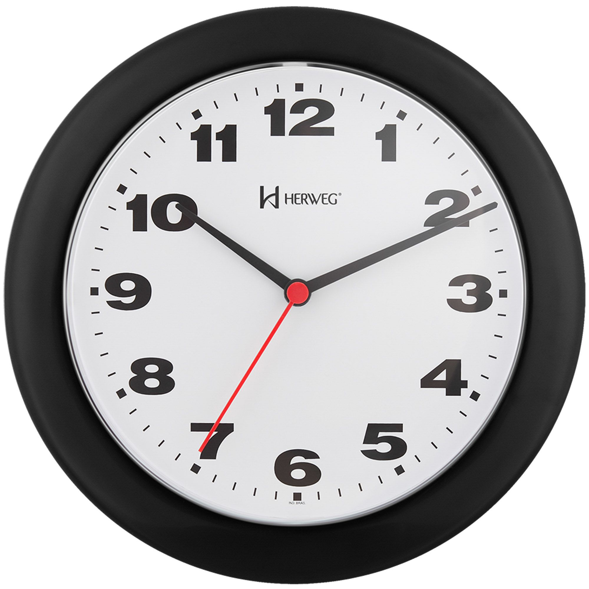Relógio de Parede Analógico Herweg 6103 034 Preto