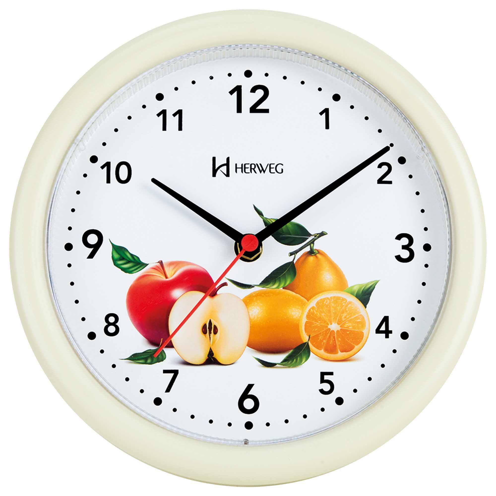 Relógio de Parede Analógico Herweg 6105 032 Marfim