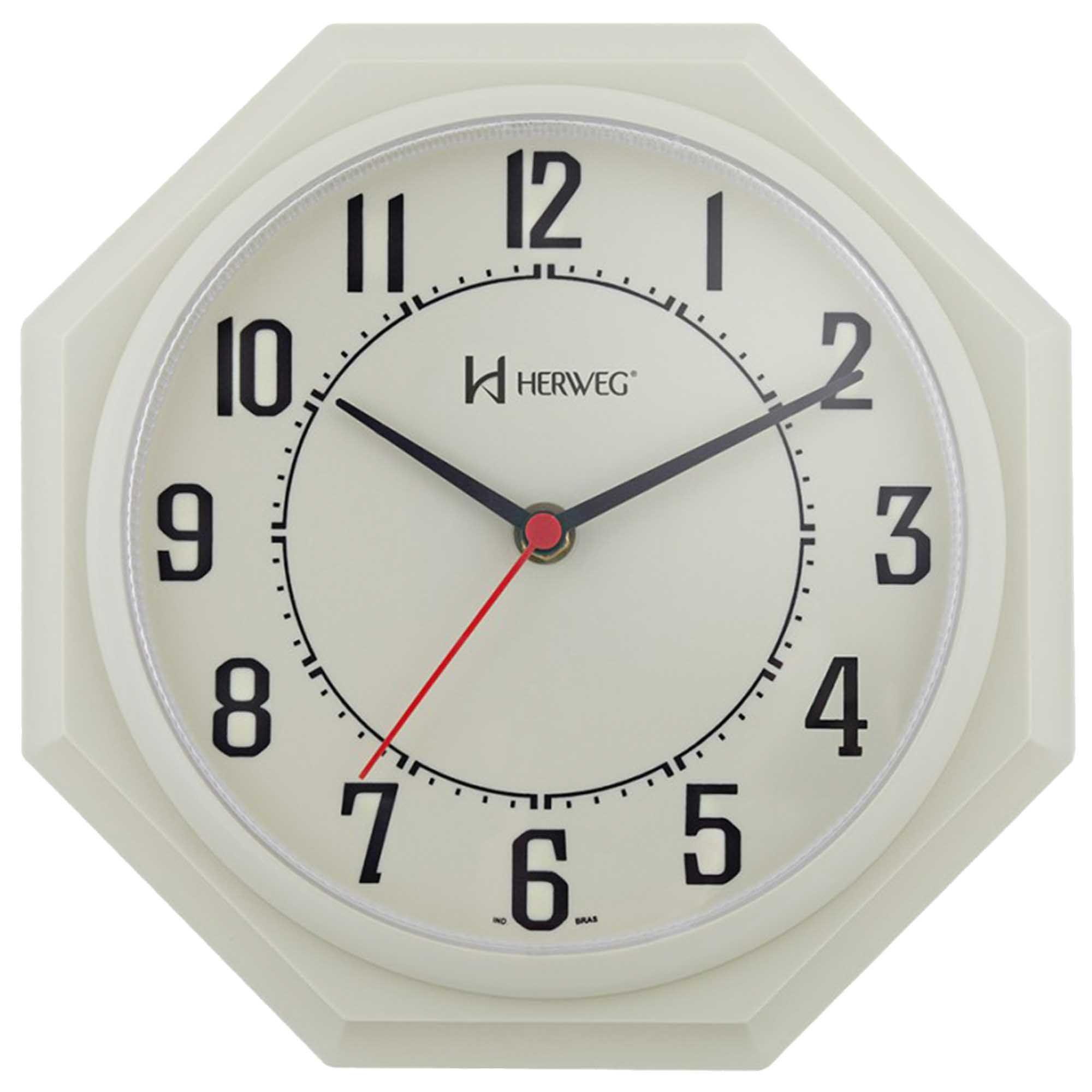 Relógio de Parede Analógico Herweg 6117 032 Marfim