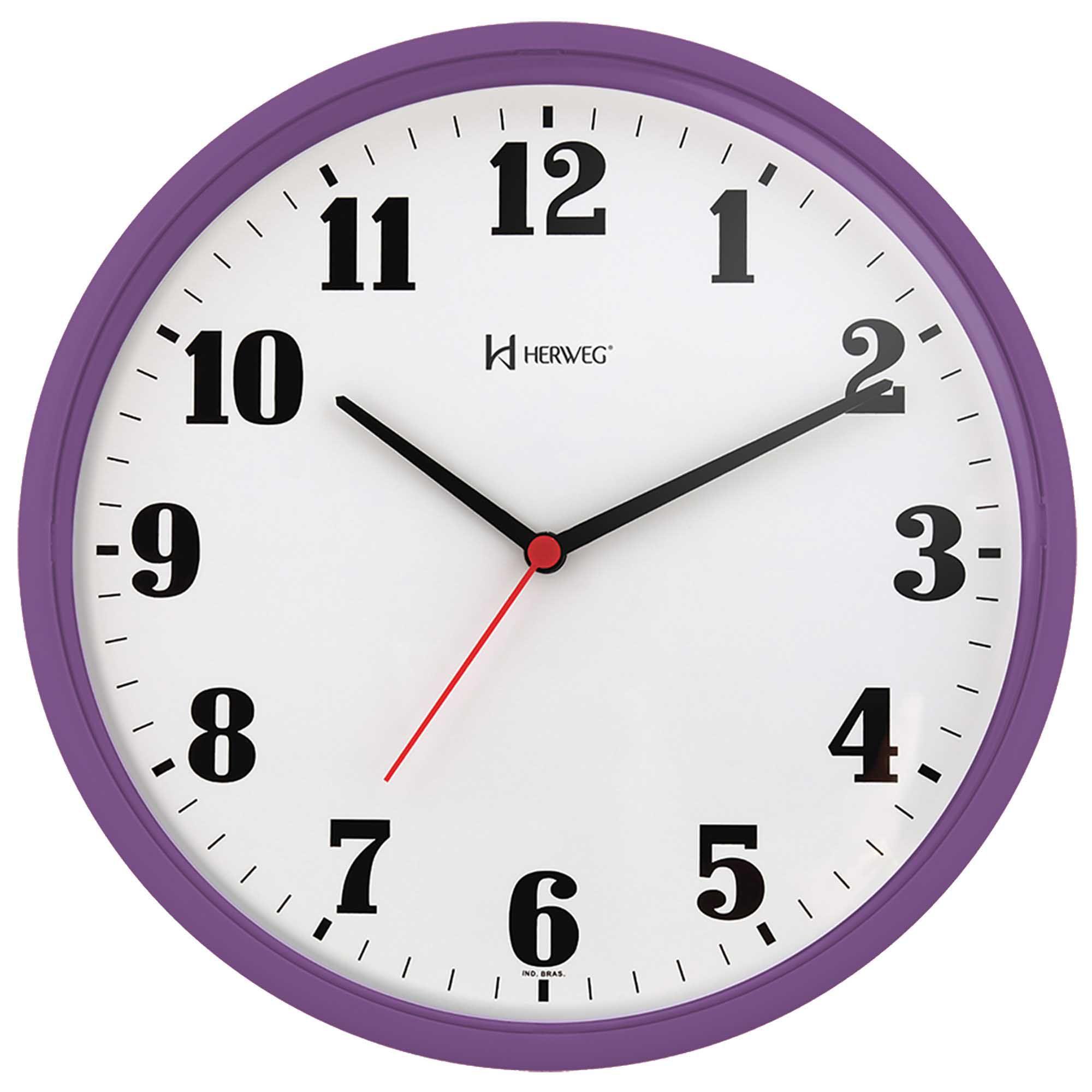 Relógio de Parede Analógico Herweg 6126 282 Violeta