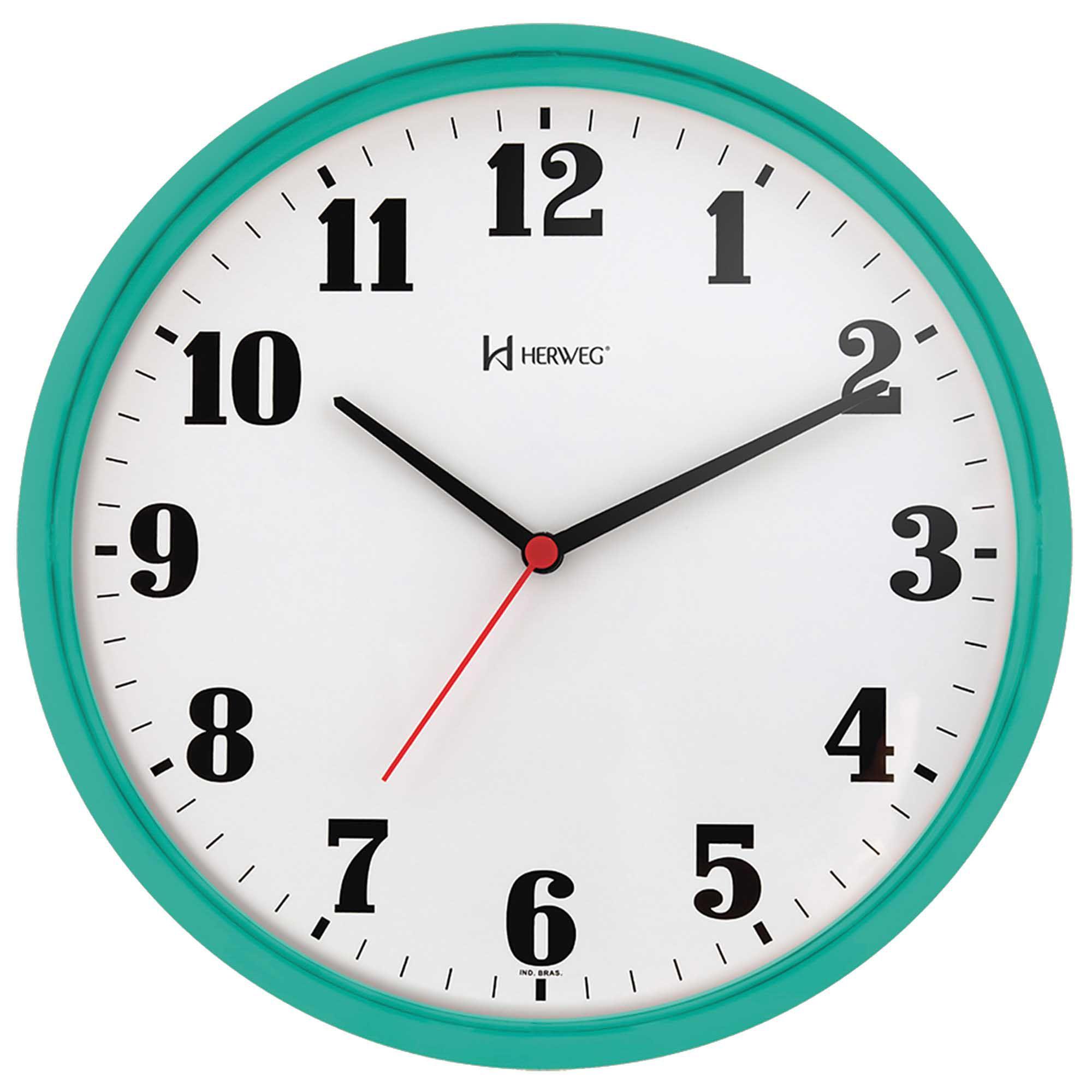 Relógio de Parede Analógico Herweg 6126 283 Menta