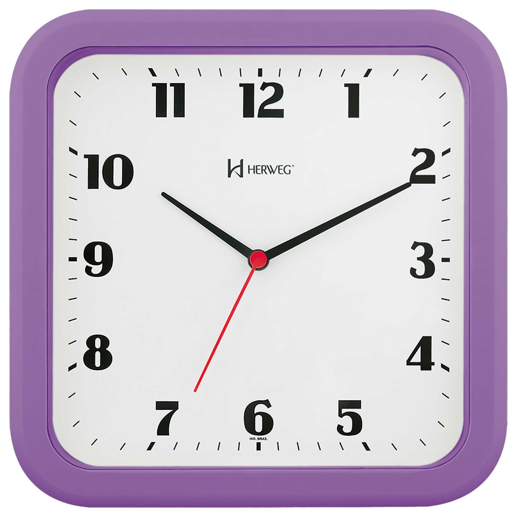 Relógio de Parede Analógico Herweg 6145 282 Violeta