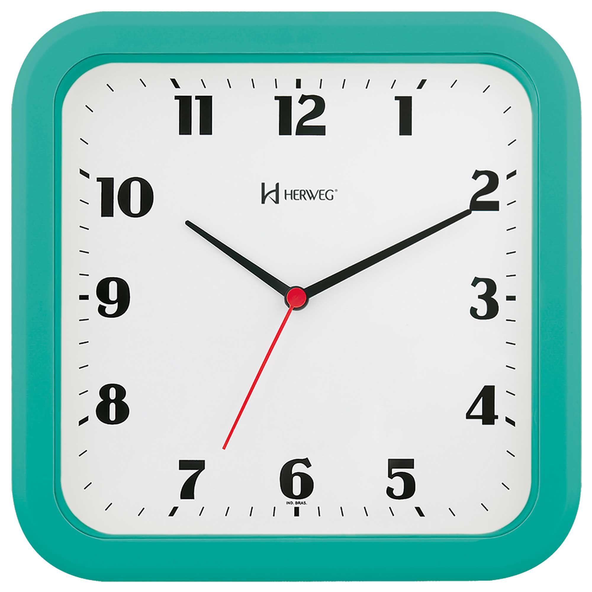 Relógio de Parede Analógico Herweg 6145 283 Menta