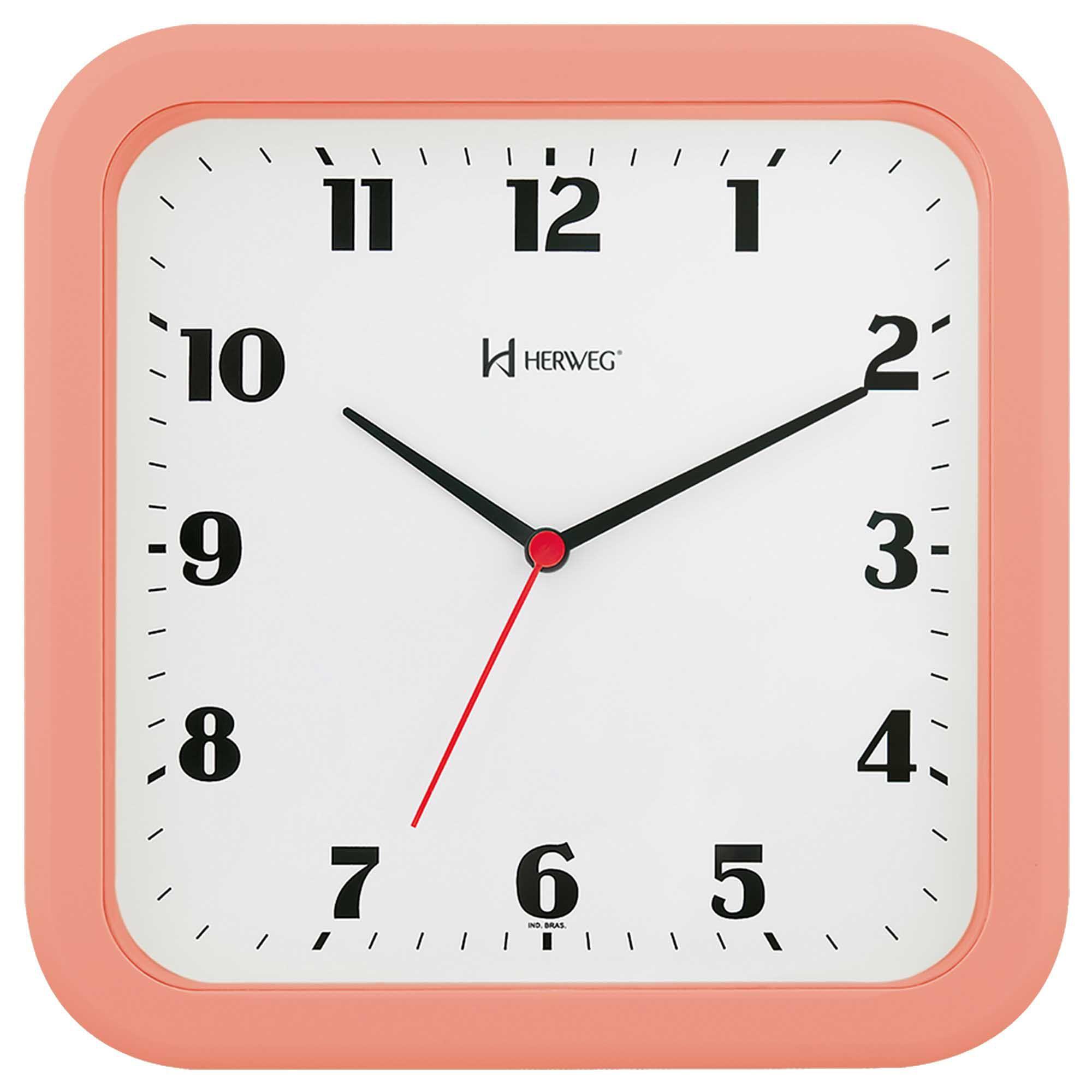 Relógio de Parede Analógico Herweg 6145 313 Salmão