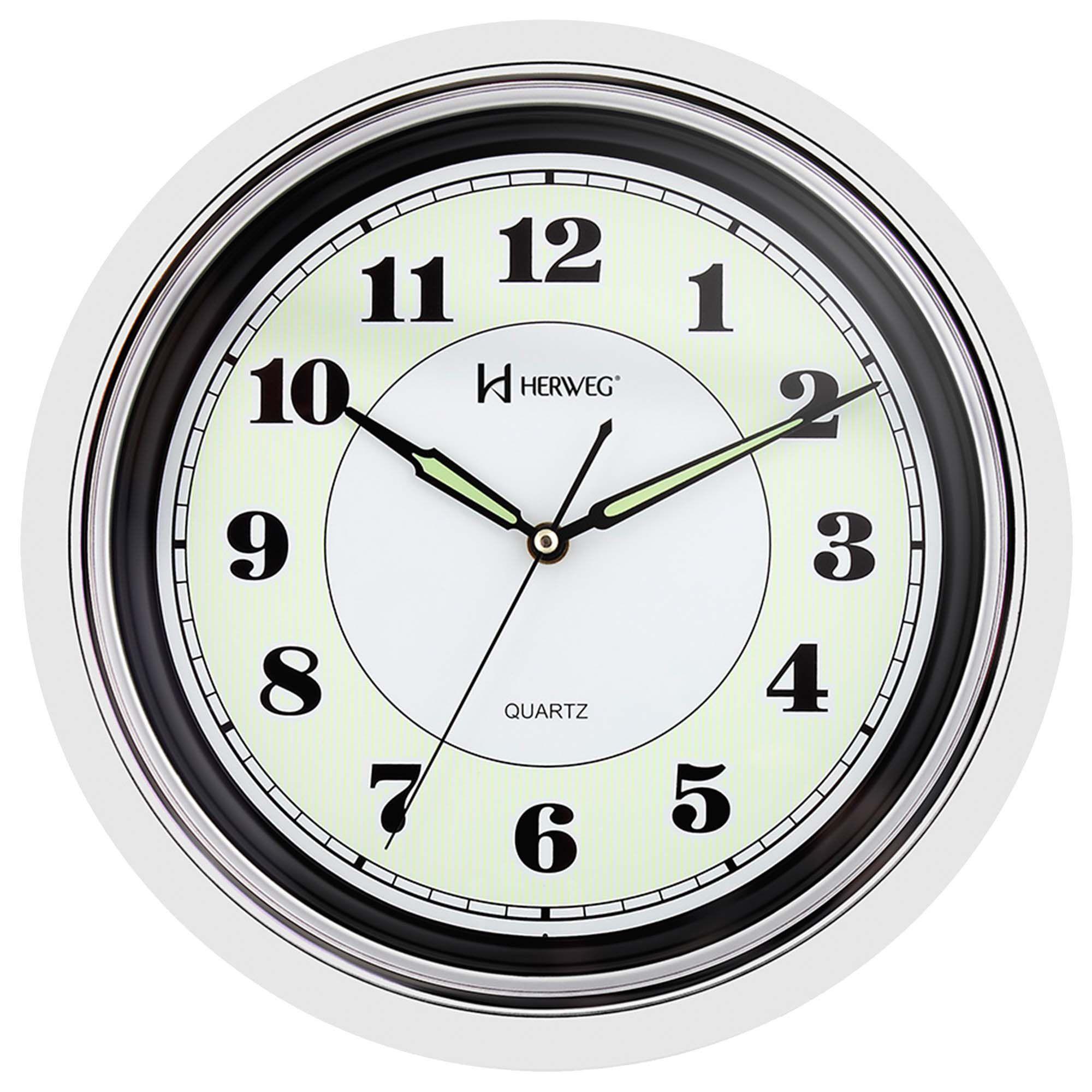 Relógio de Parede Analógico Herweg 6313 021 Branco