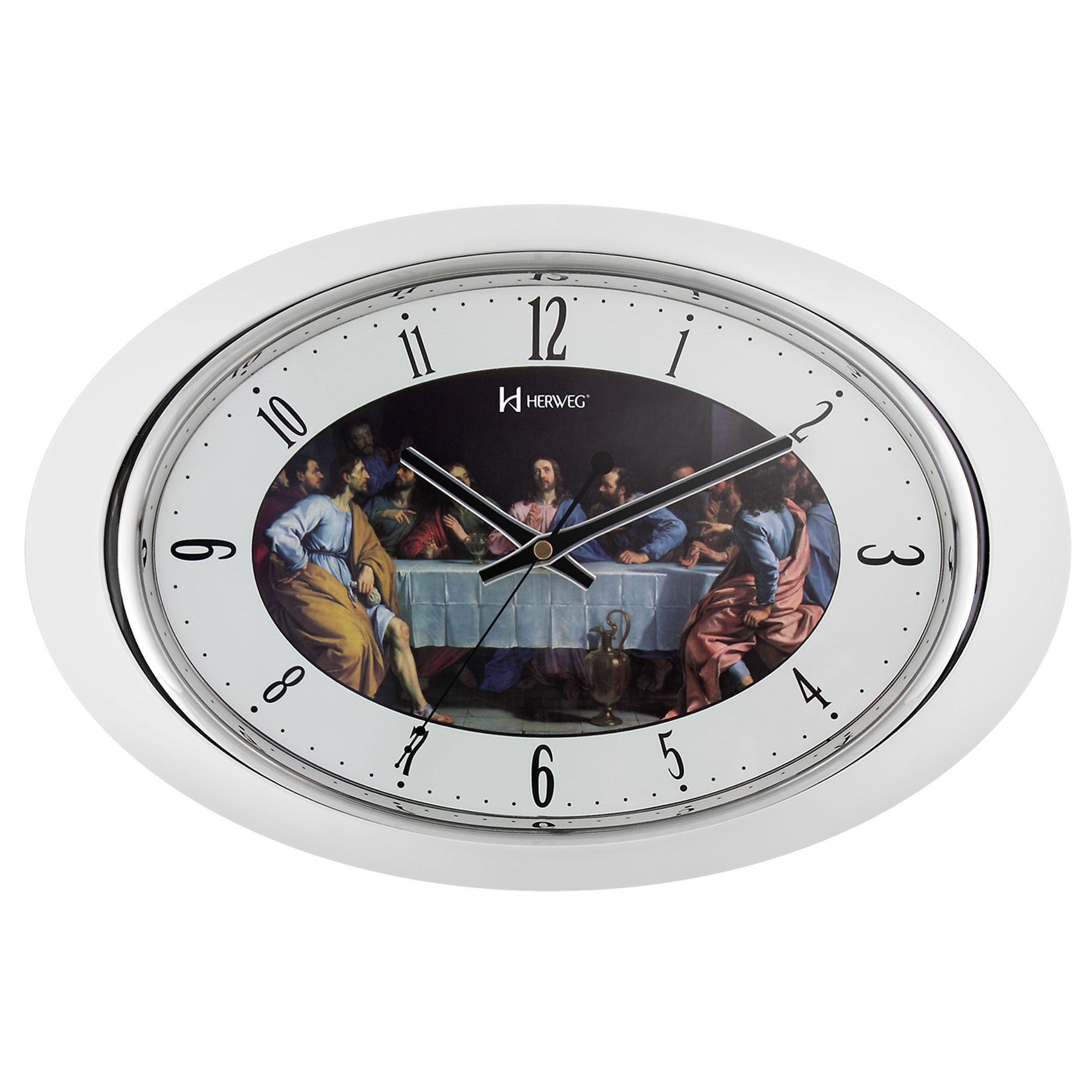Relógio de Parede Analógico Herweg 6354 021 Branco